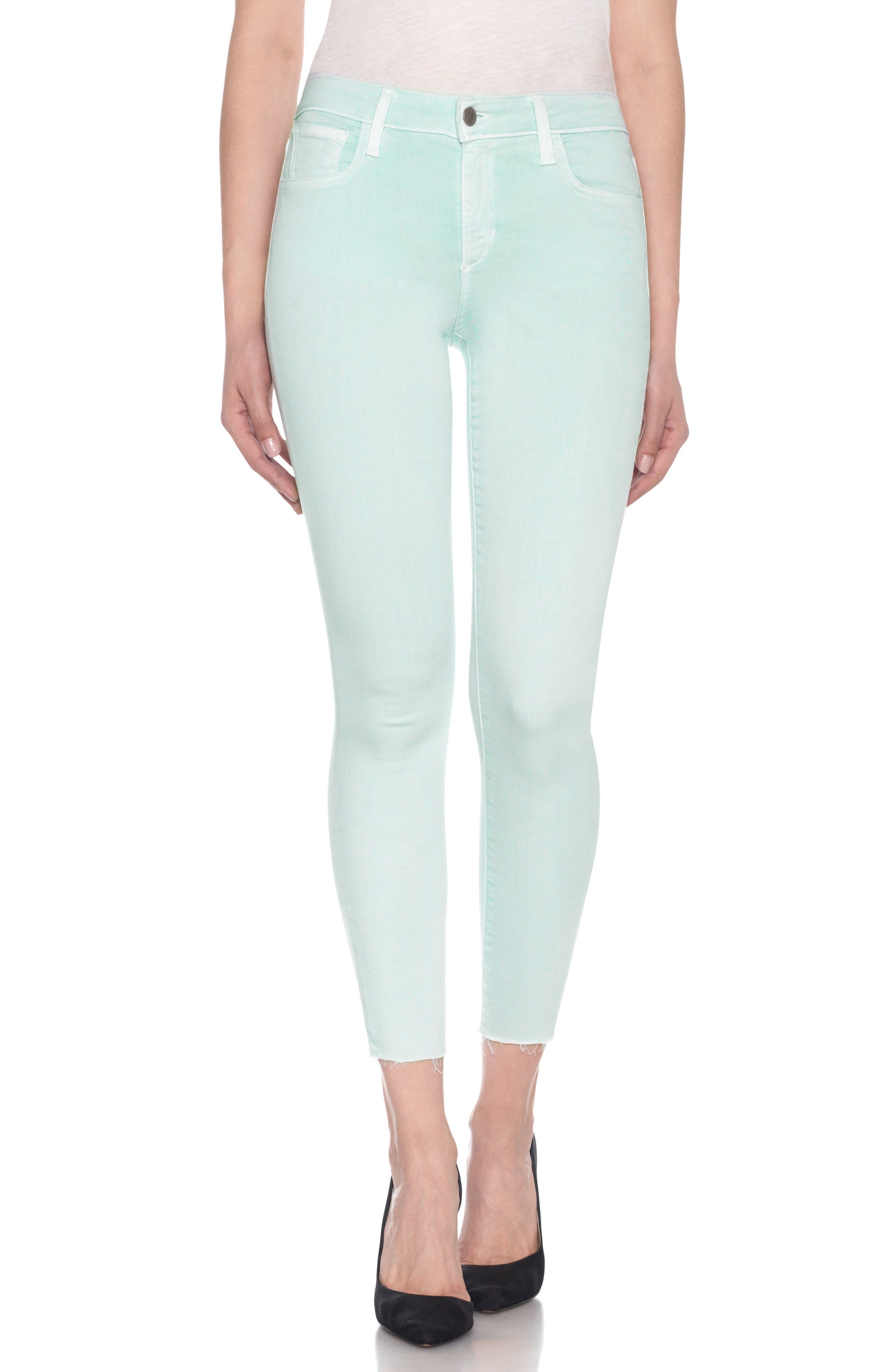 Charlie High Rise Ankle Skinny Jeans,                             Main thumbnail 5, color,