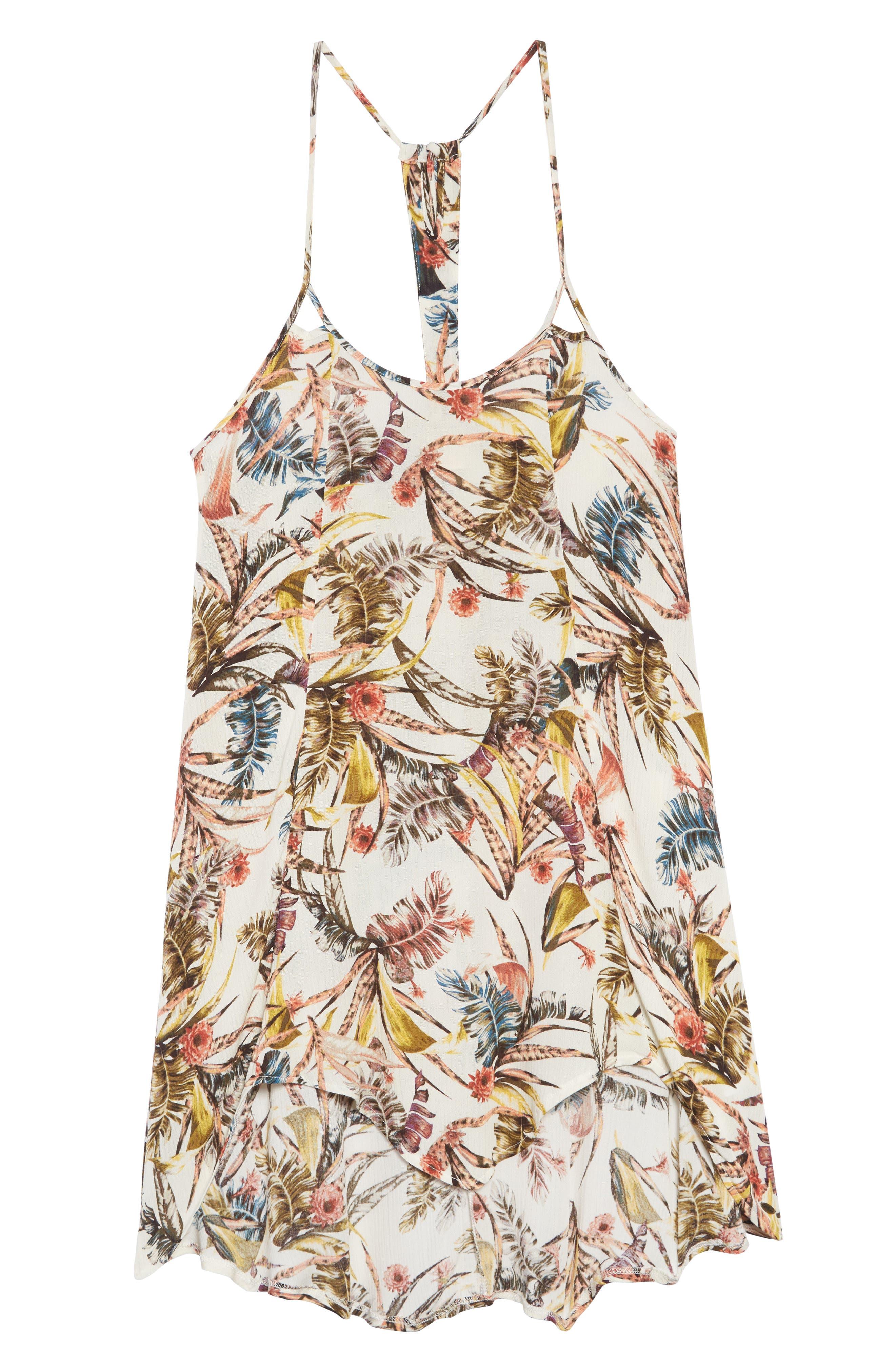Dreamer Tropical Print Dress,                             Main thumbnail 1, color,                             250