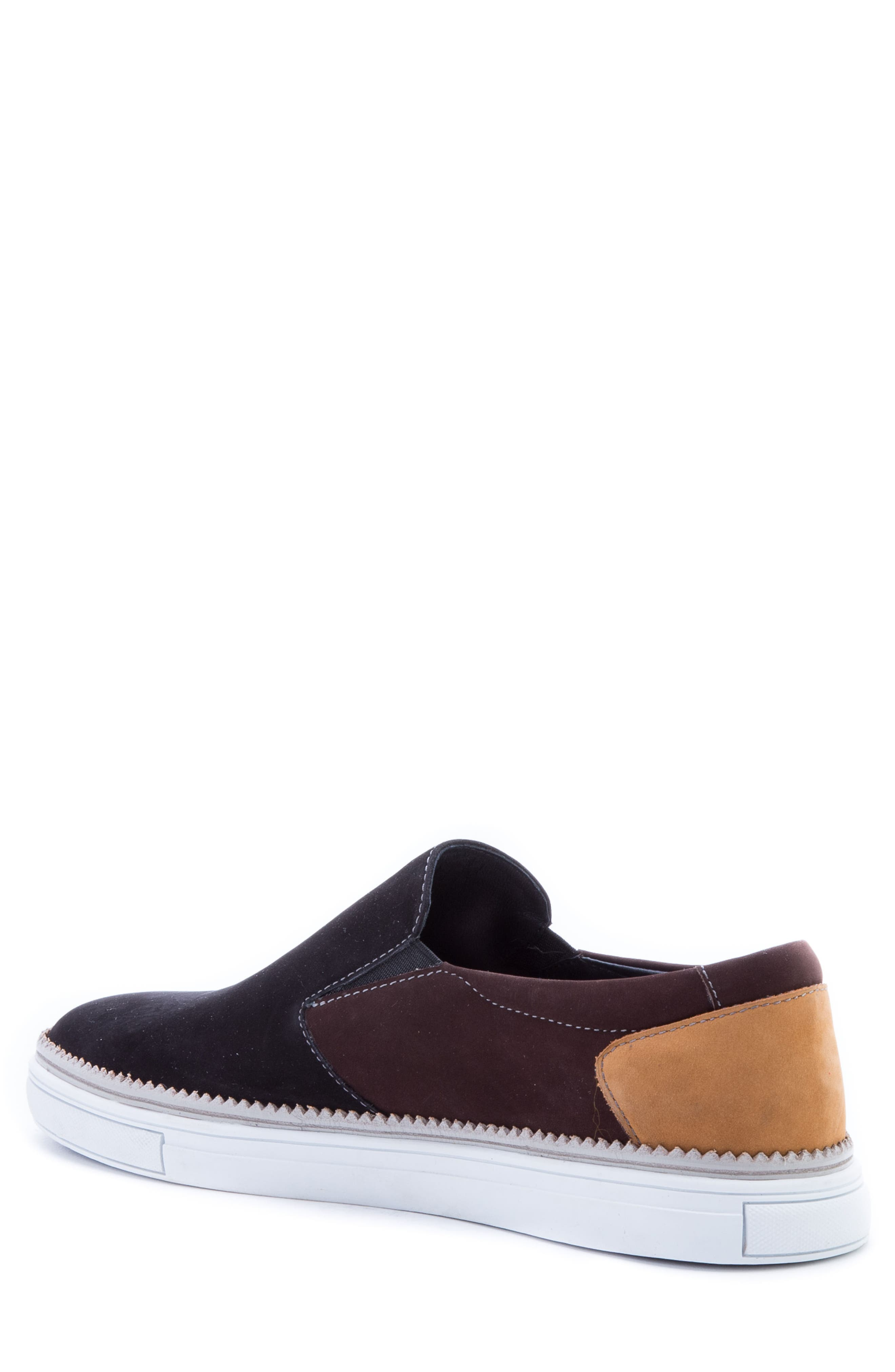 Rivera Colorblocked Slip-On Sneaker,                             Alternate thumbnail 2, color,                             BLACK SUEDE