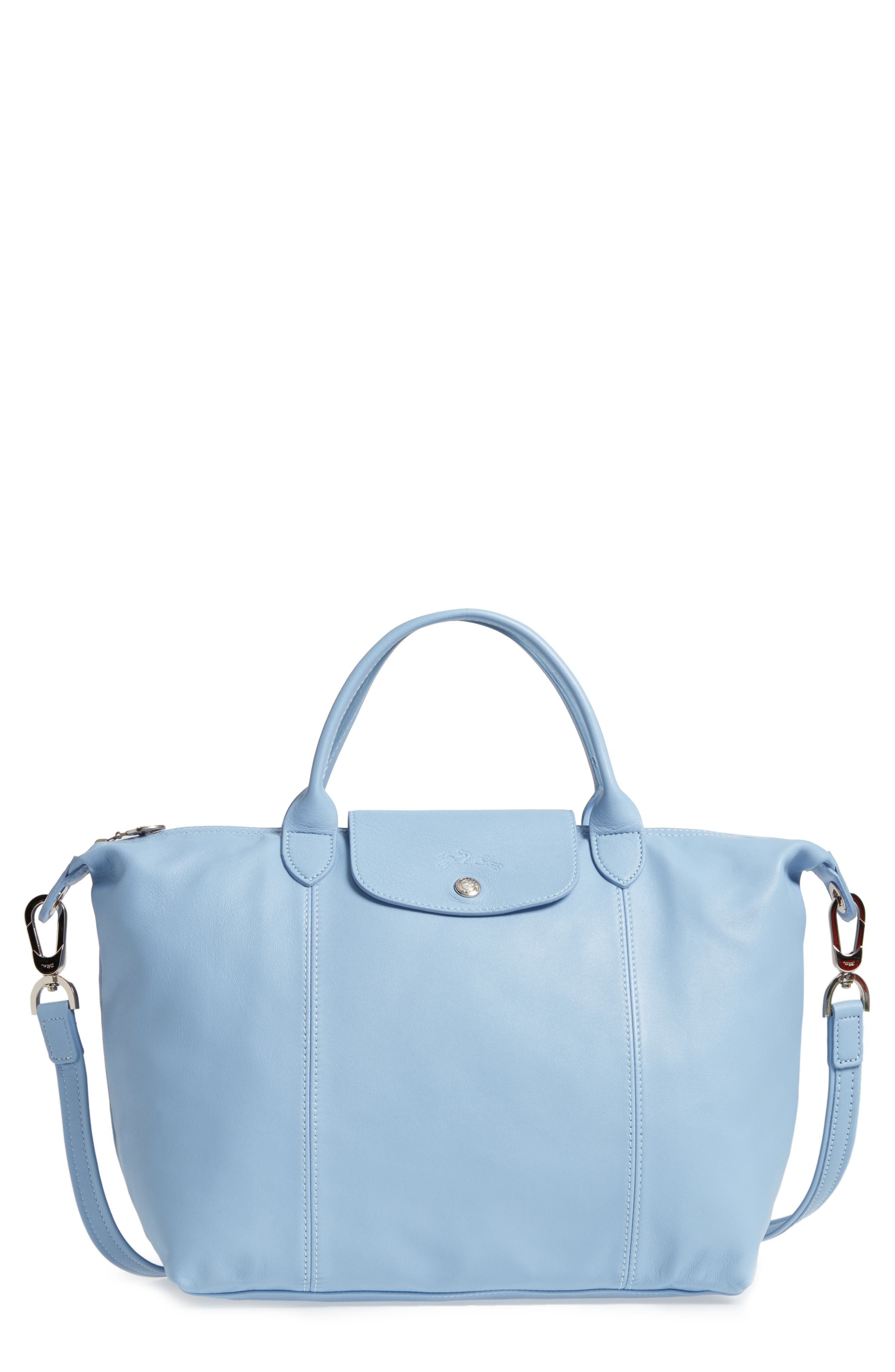 Medium 'Le Pliage Cuir' Leather Top Handle Tote,                             Main thumbnail 3, color,
