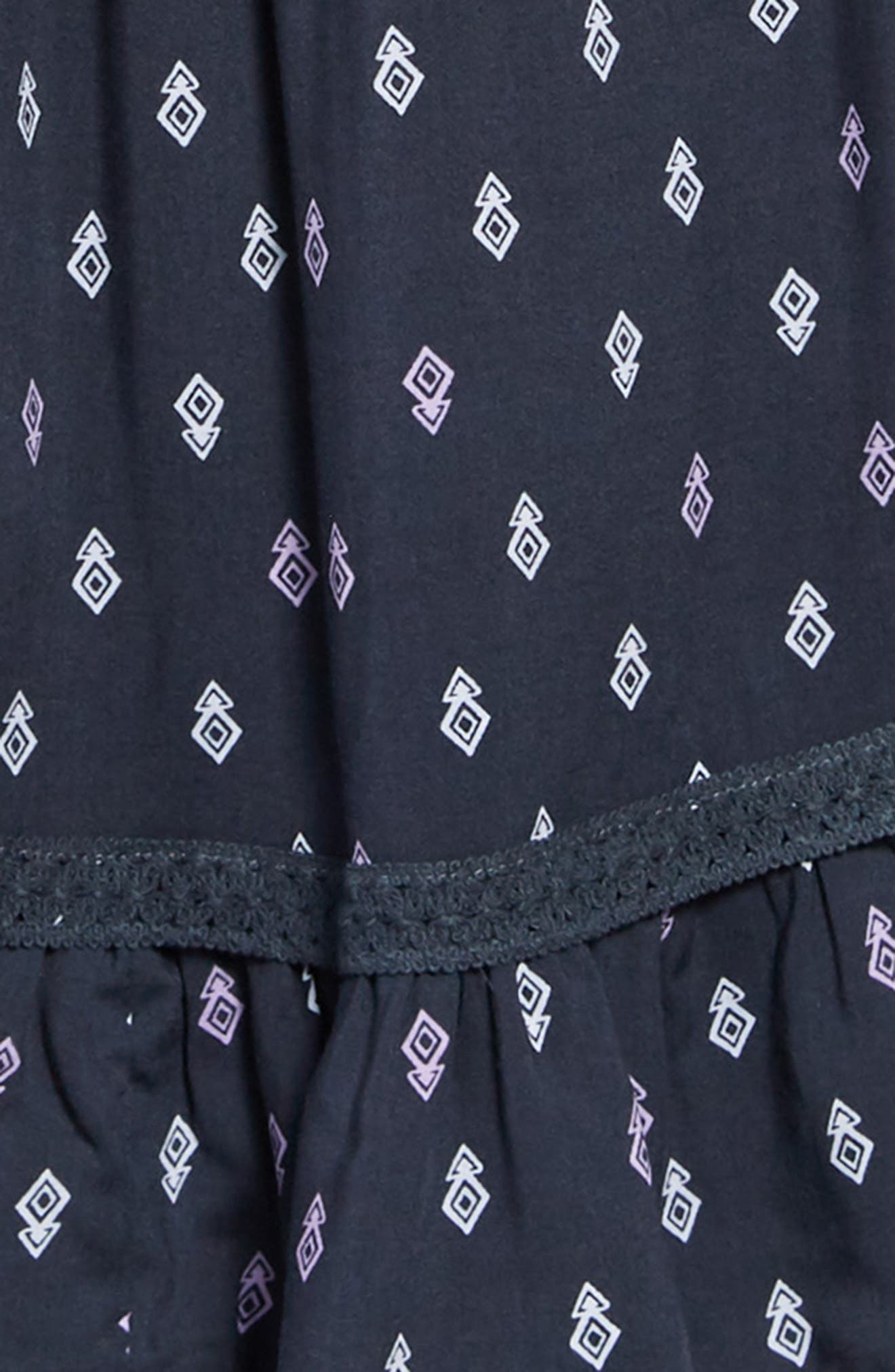 Geo Print Cold Shoulder Dress,                             Alternate thumbnail 3, color,                             414