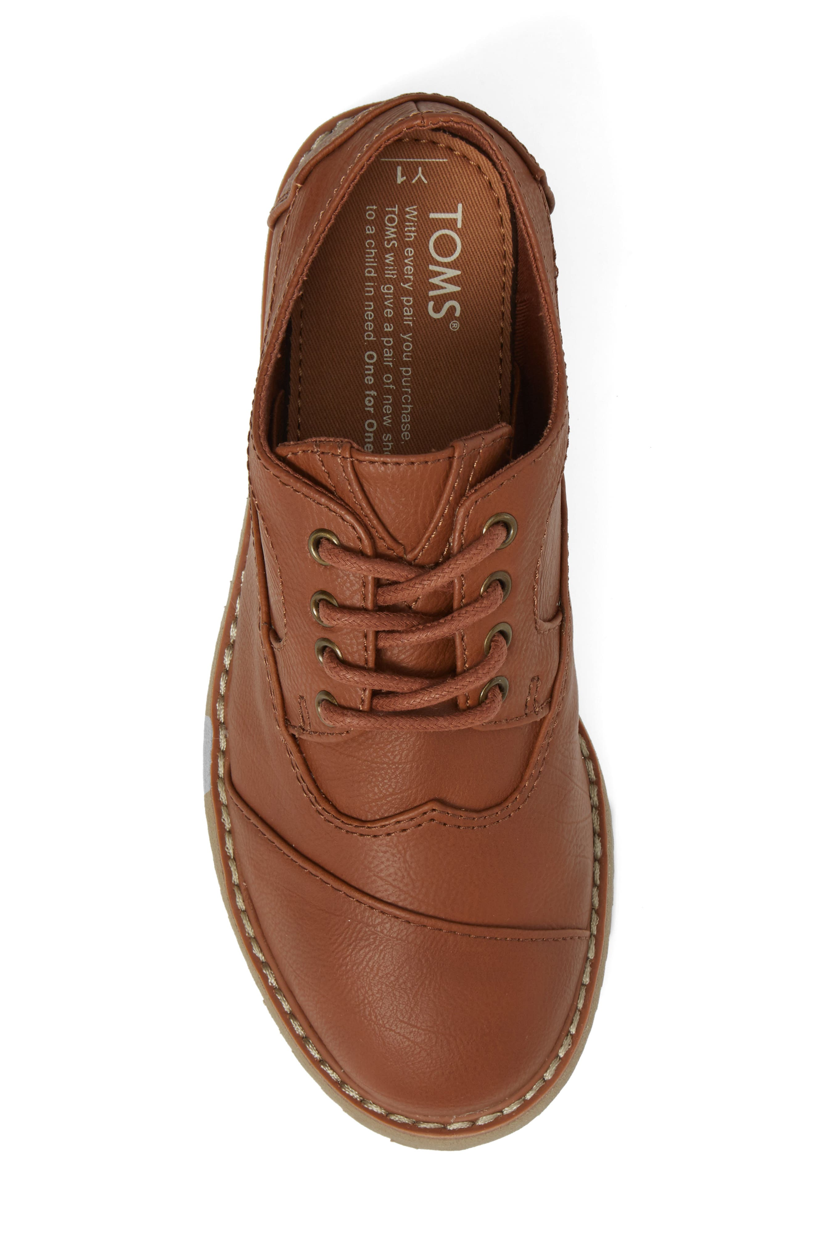 Brogue Cap Toe Wingtip Oxford,                             Alternate thumbnail 5, color,                             TOFFEE