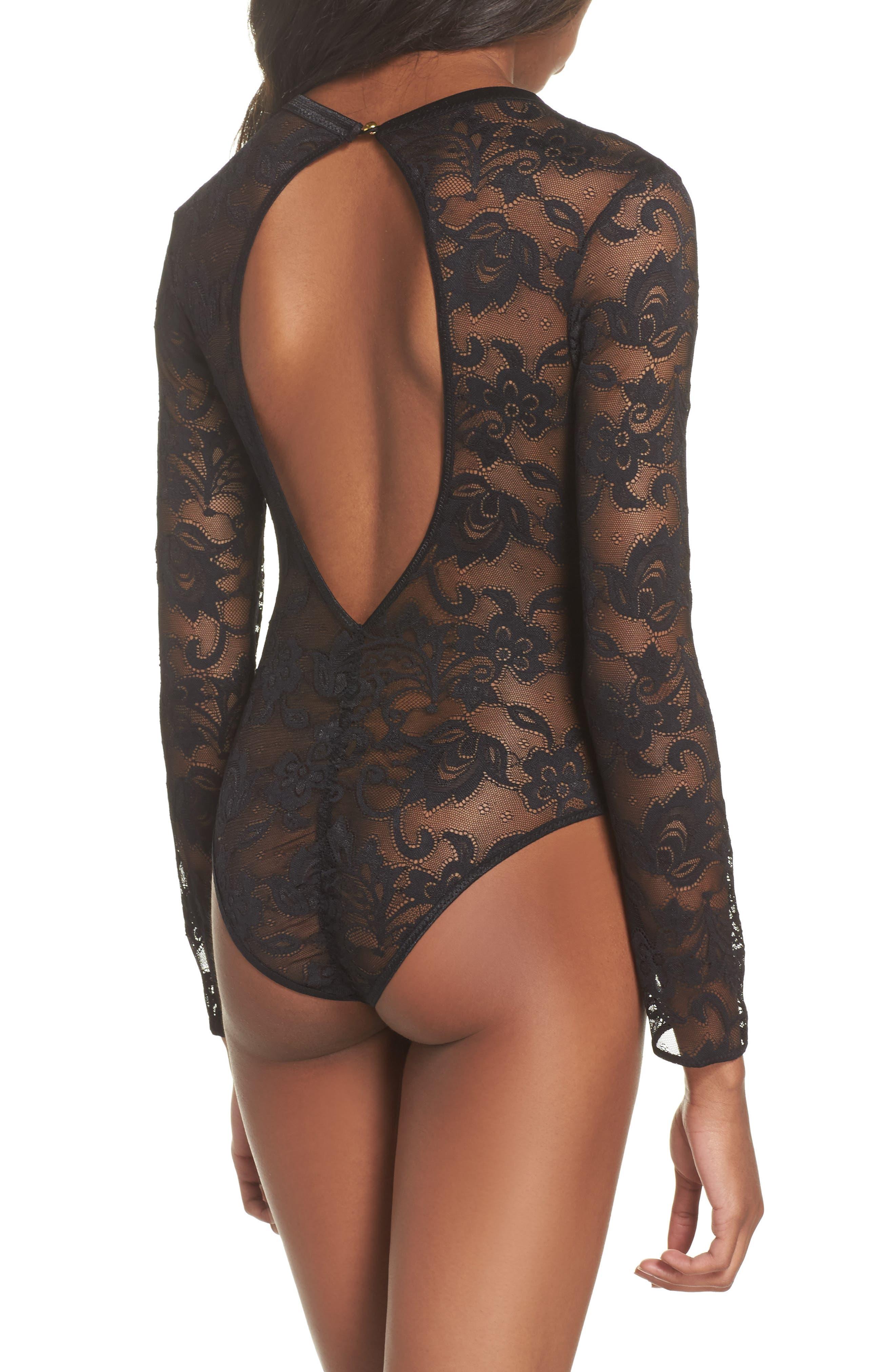 Monarch Lace-Up Bodysuit,                             Alternate thumbnail 2, color,