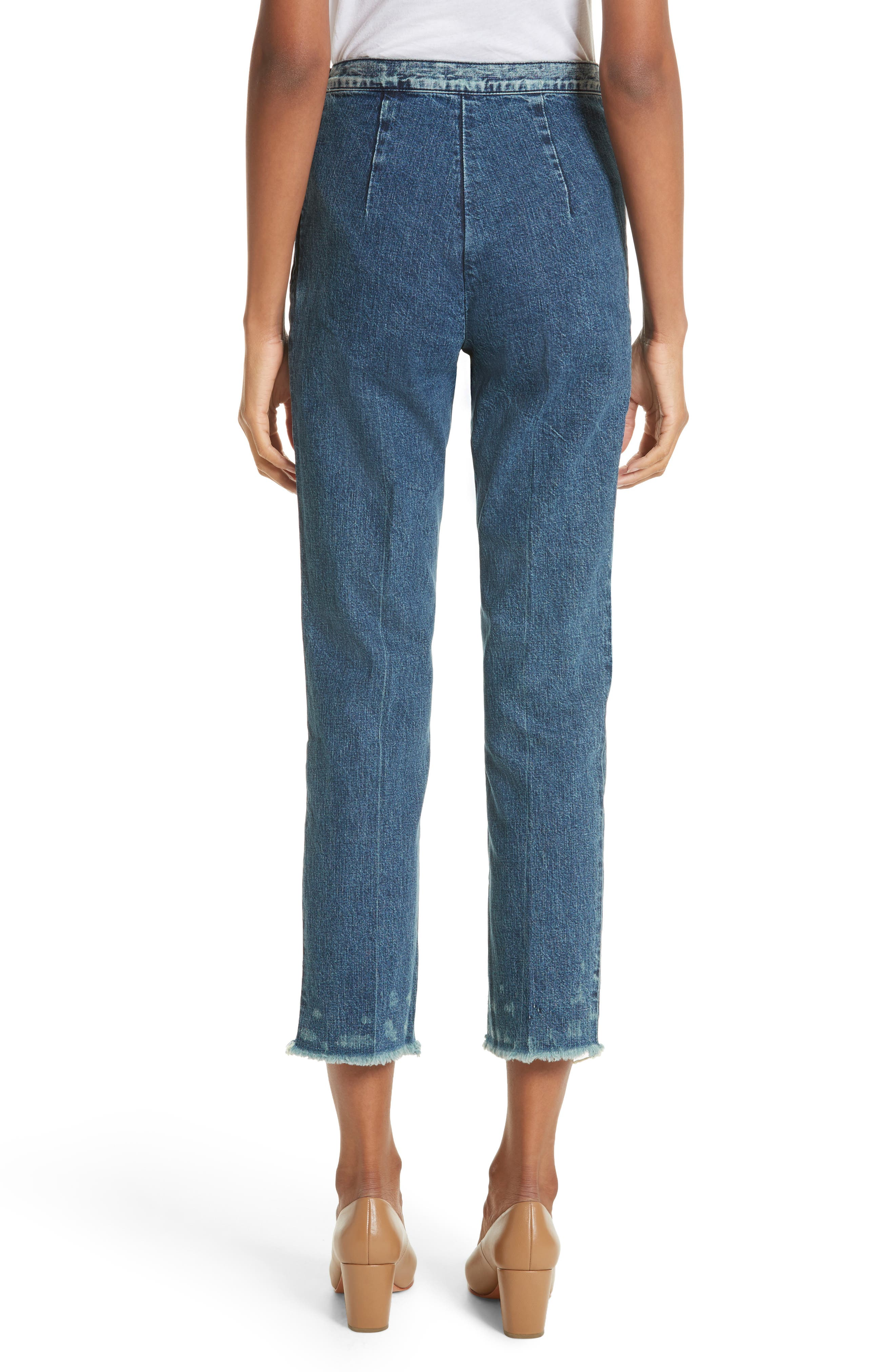 Fletcher Slim Straight Cropped Jeans,                             Alternate thumbnail 2, color,                             420