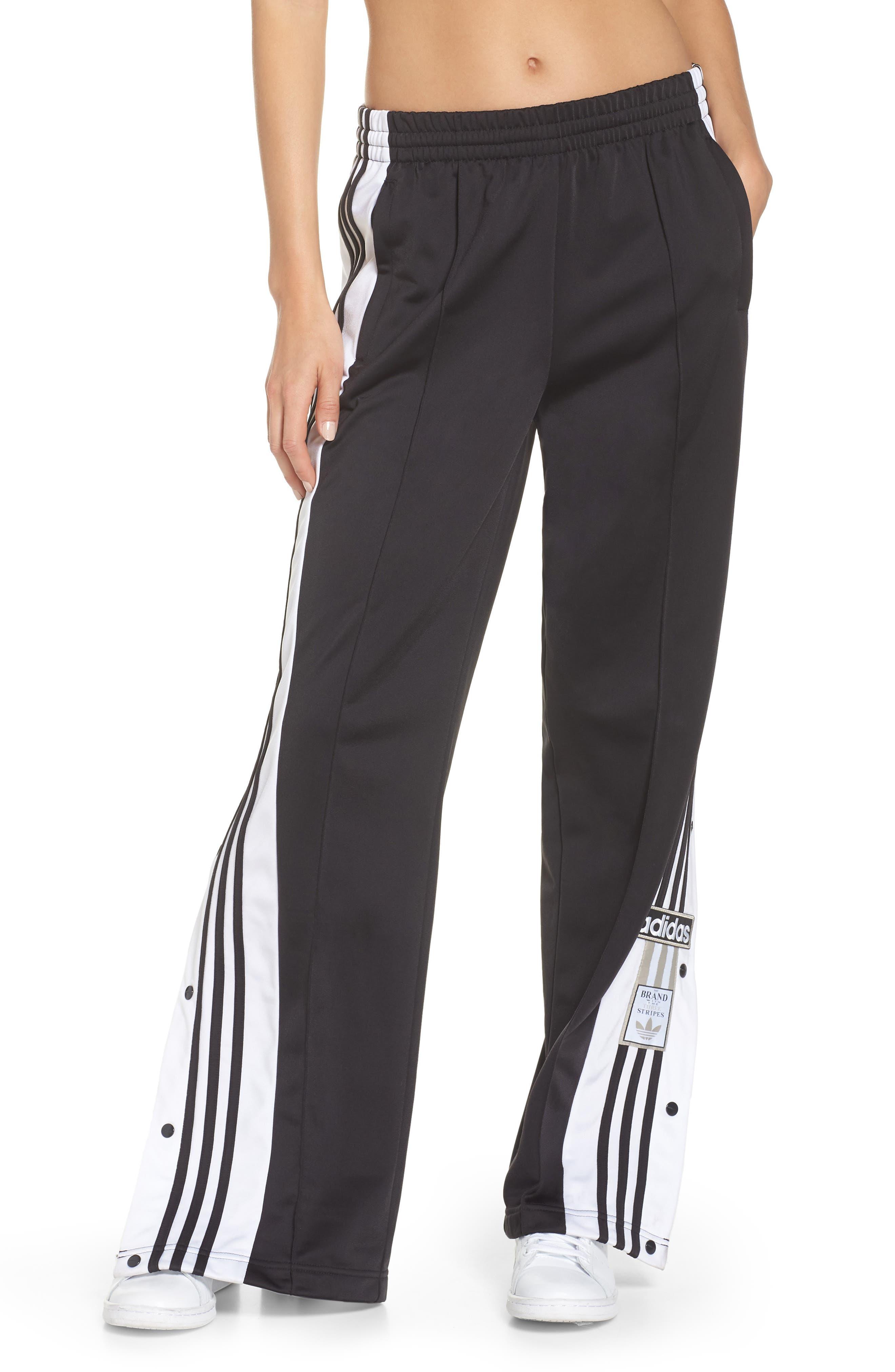 Adibreak Tearaway Track Pants,                         Main,                         color, BLACK/ CARBON