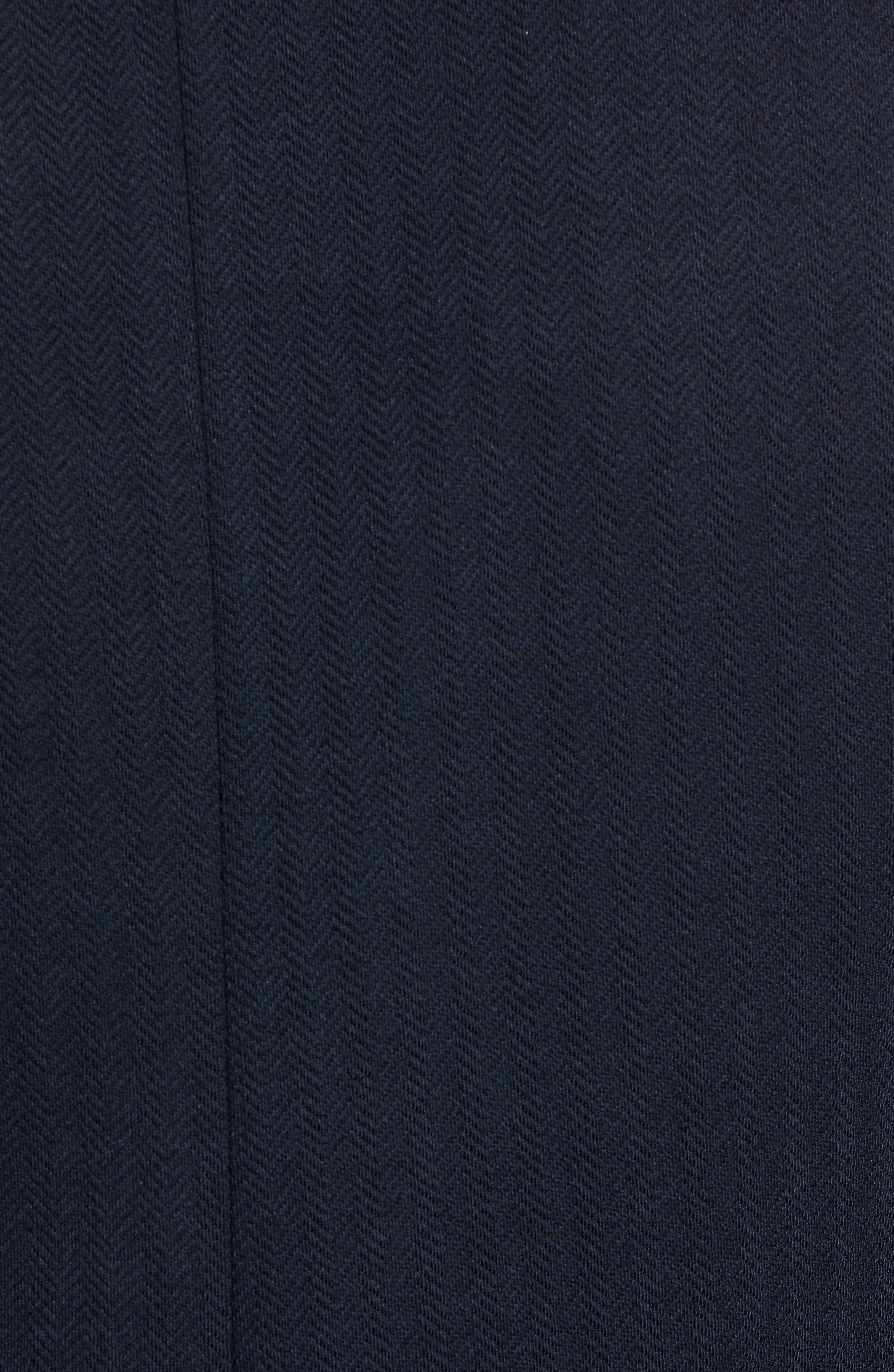 Glenny Slim Fit Layered Look Blazer,                             Alternate thumbnail 6, color,                             NAVY