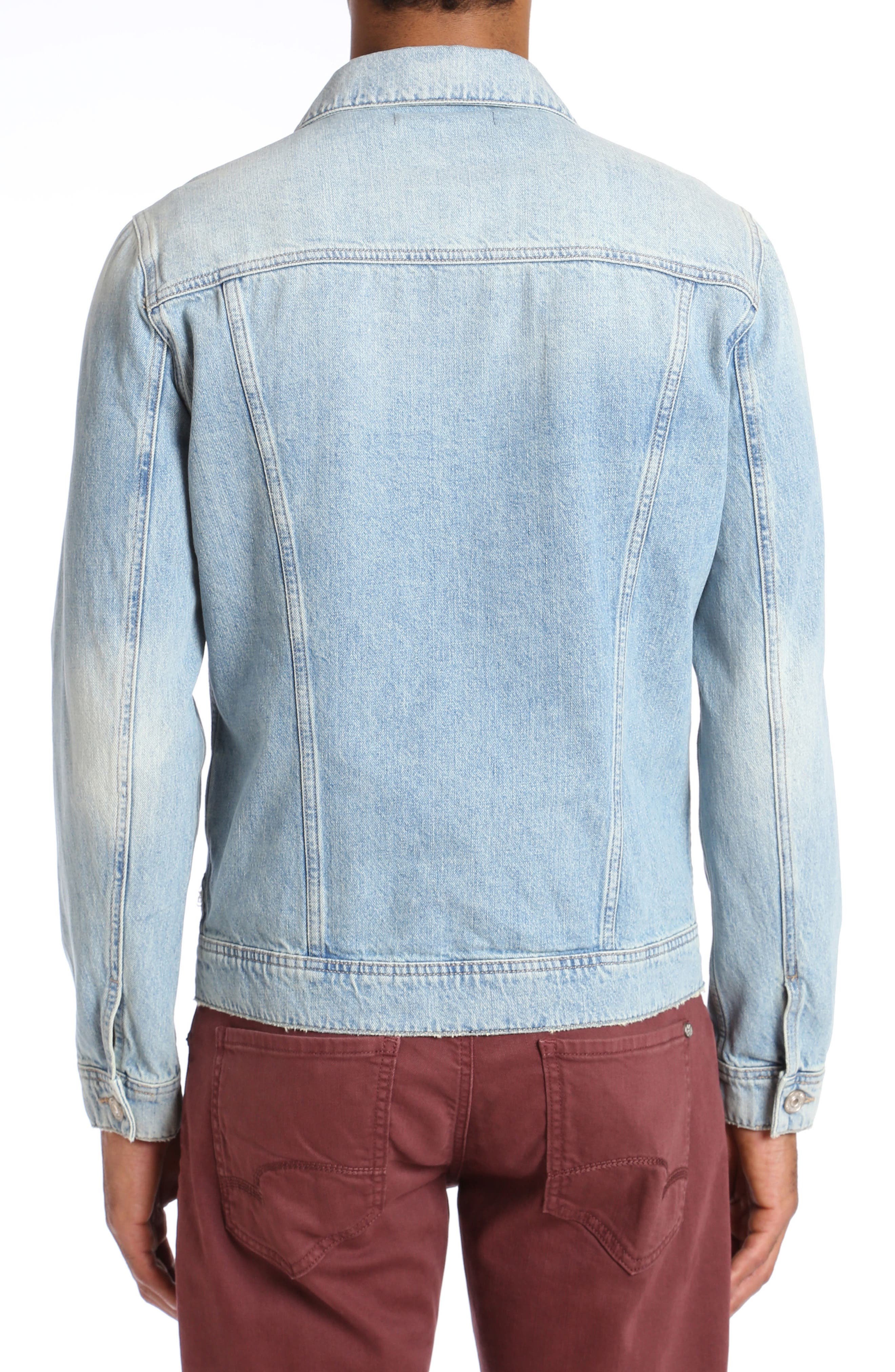 Frank Denim Jacket,                             Alternate thumbnail 2, color,                             BLEACH VINTAGE RIGID