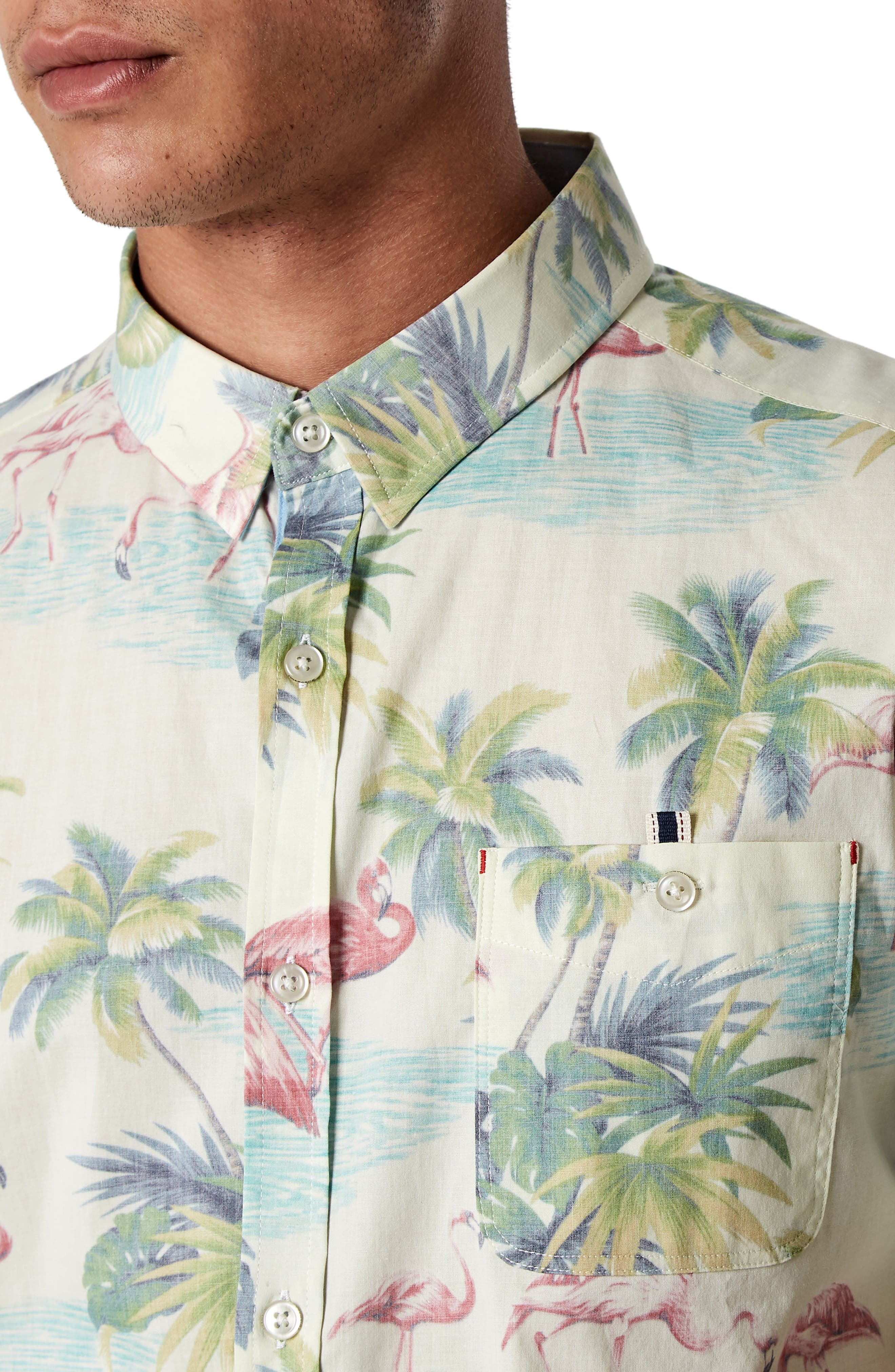 Jungle Radio Stretch Sport Shirt,                             Alternate thumbnail 4, color,                             900