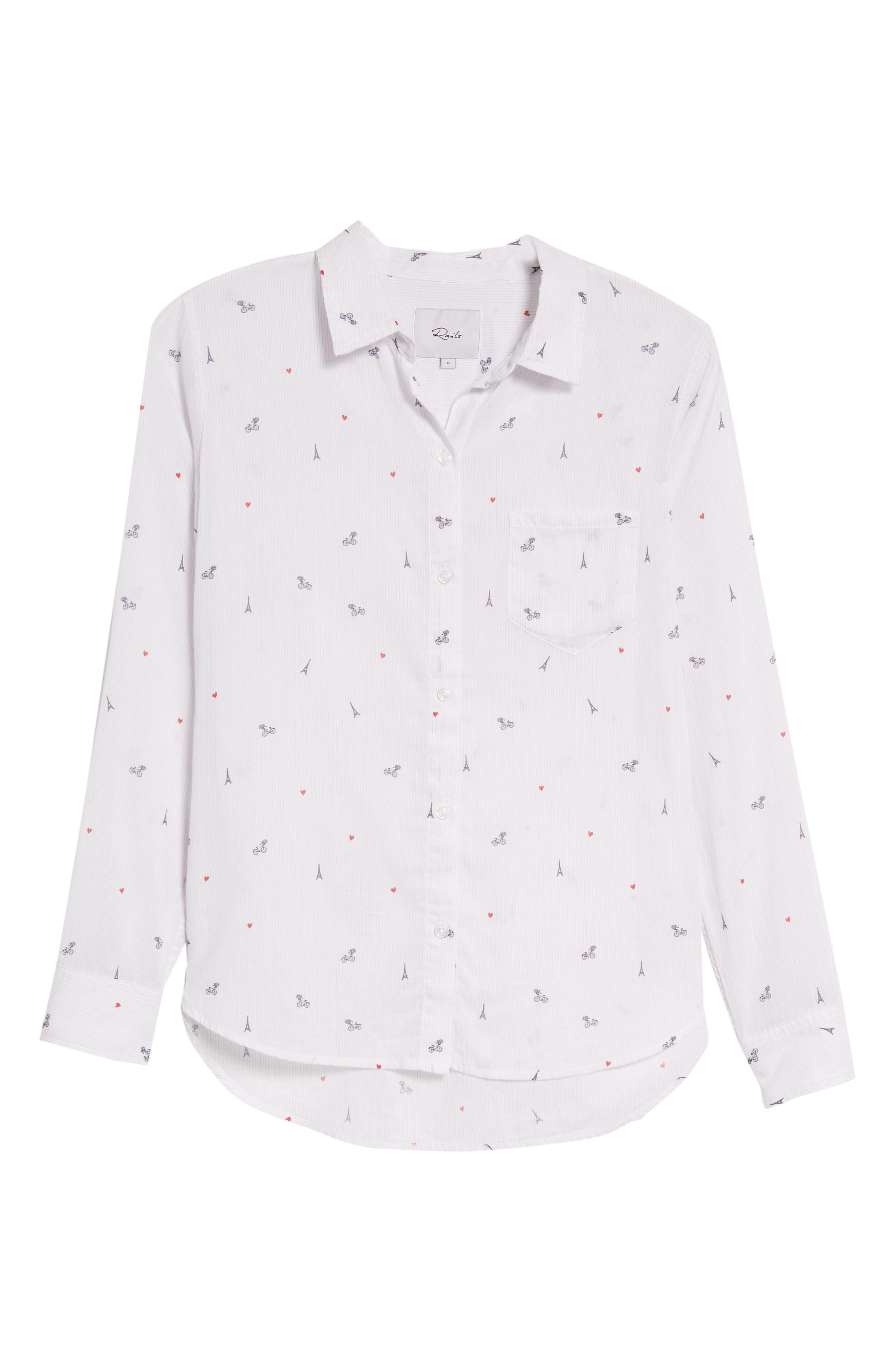 Taylor Star Stripe Shirt,                             Alternate thumbnail 7, color,                             LITTLE PARIS