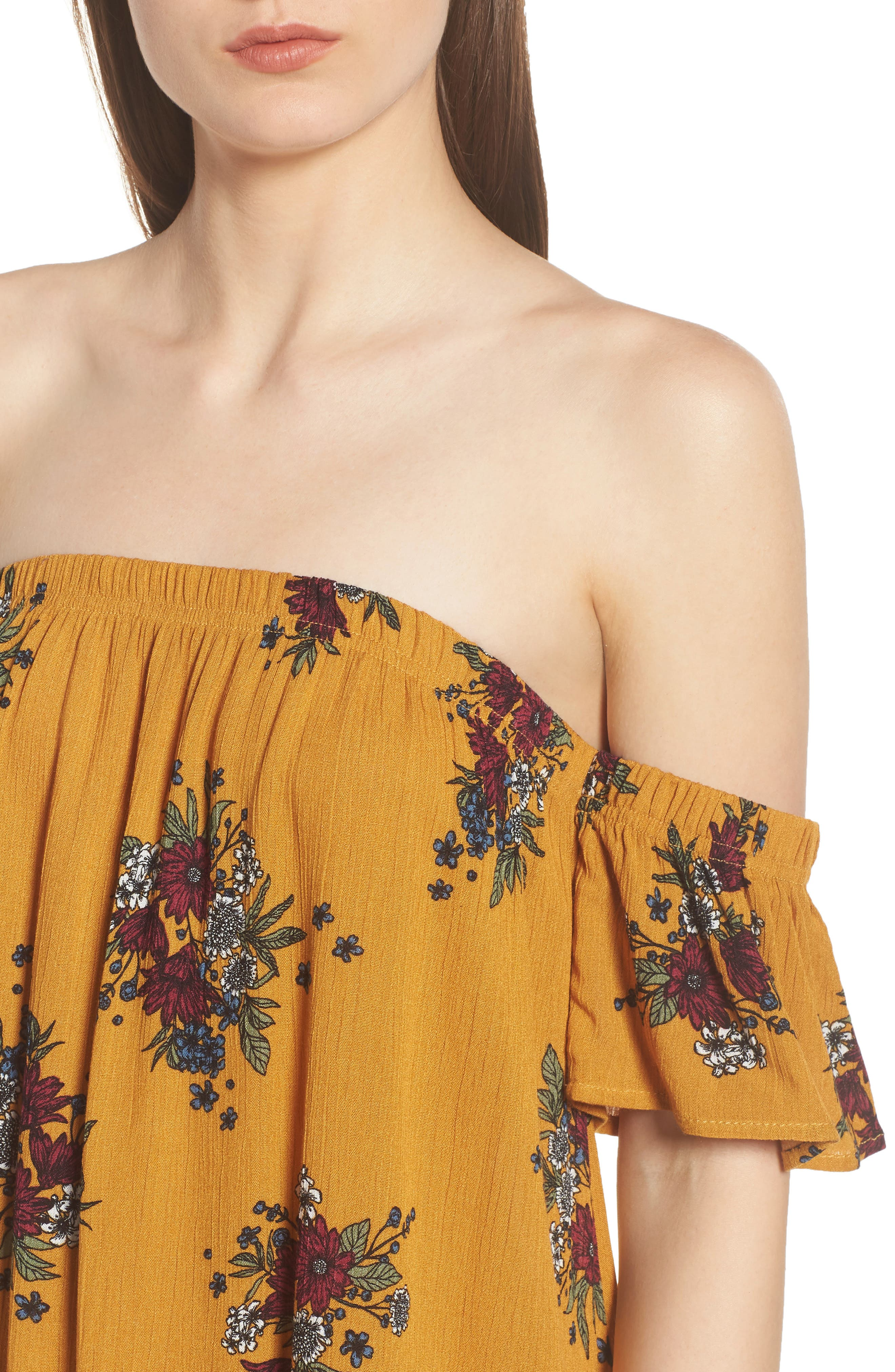 Road to Indio Print Off the Shoulder Dress,                             Alternate thumbnail 8, color,