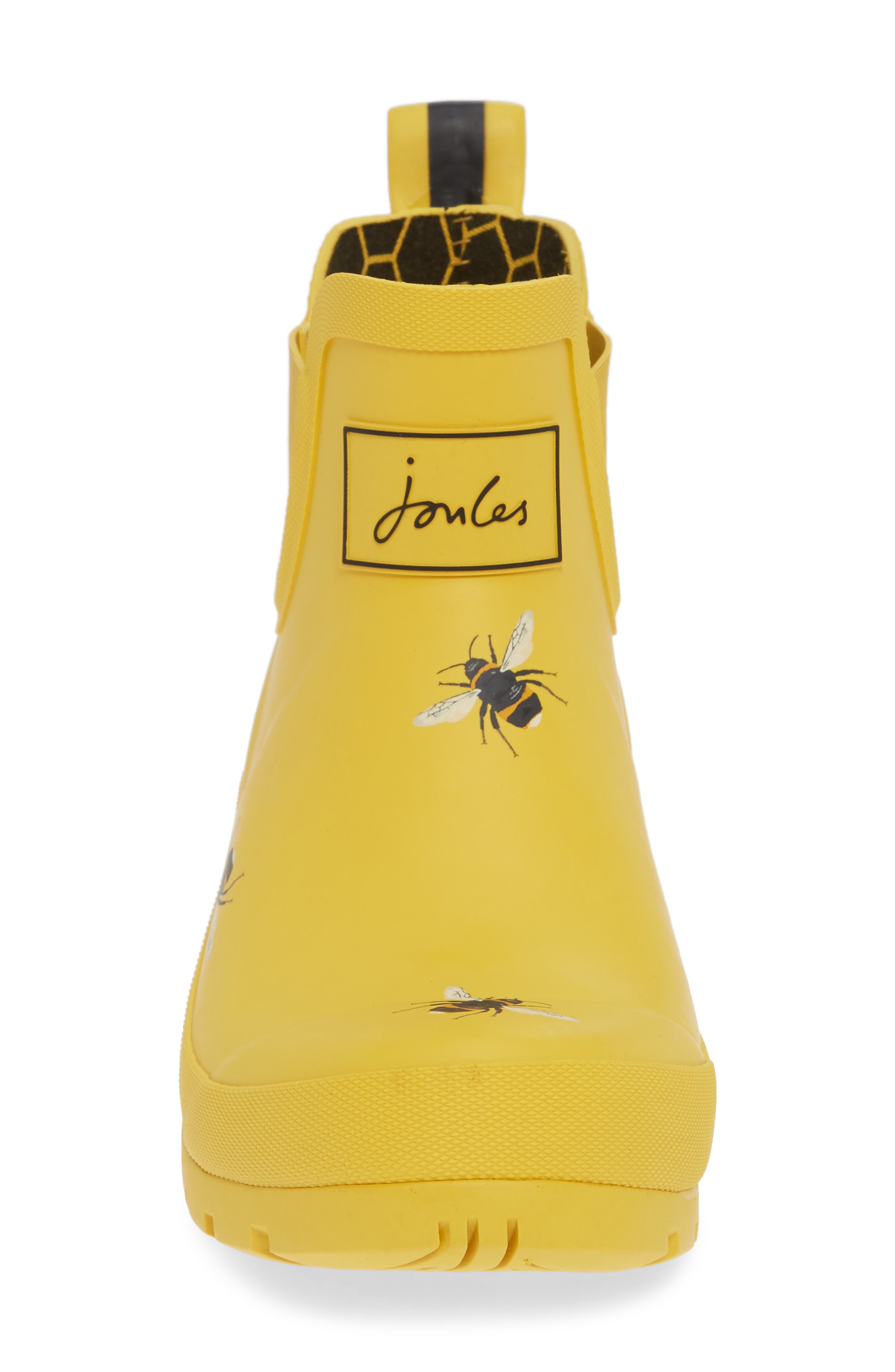 Wellibob Short Rain Boot,                             Alternate thumbnail 4, color,                             GOLD BOTANICAL BEES
