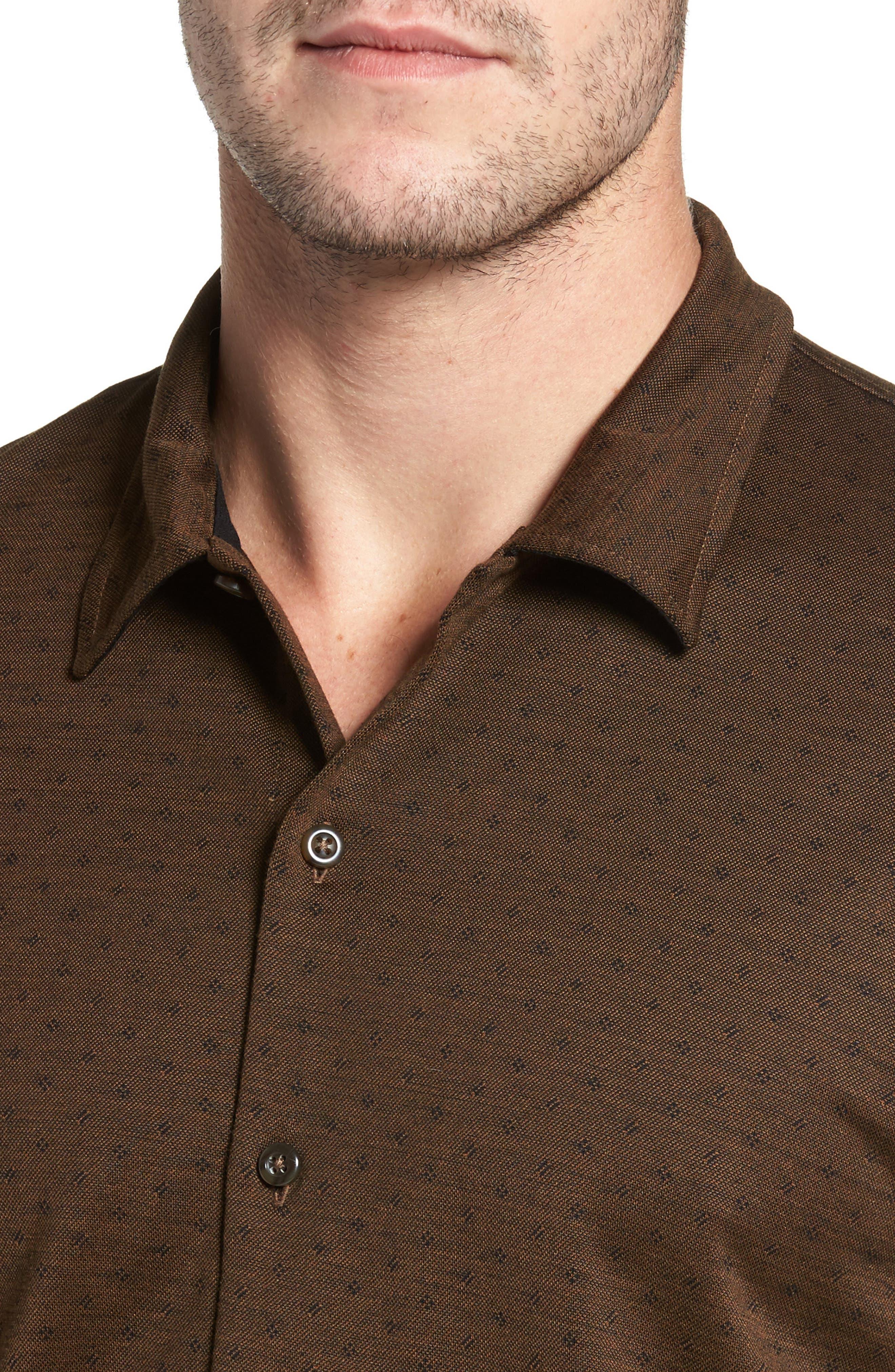 Jacquard Knit Sport Shirt,                             Alternate thumbnail 14, color,