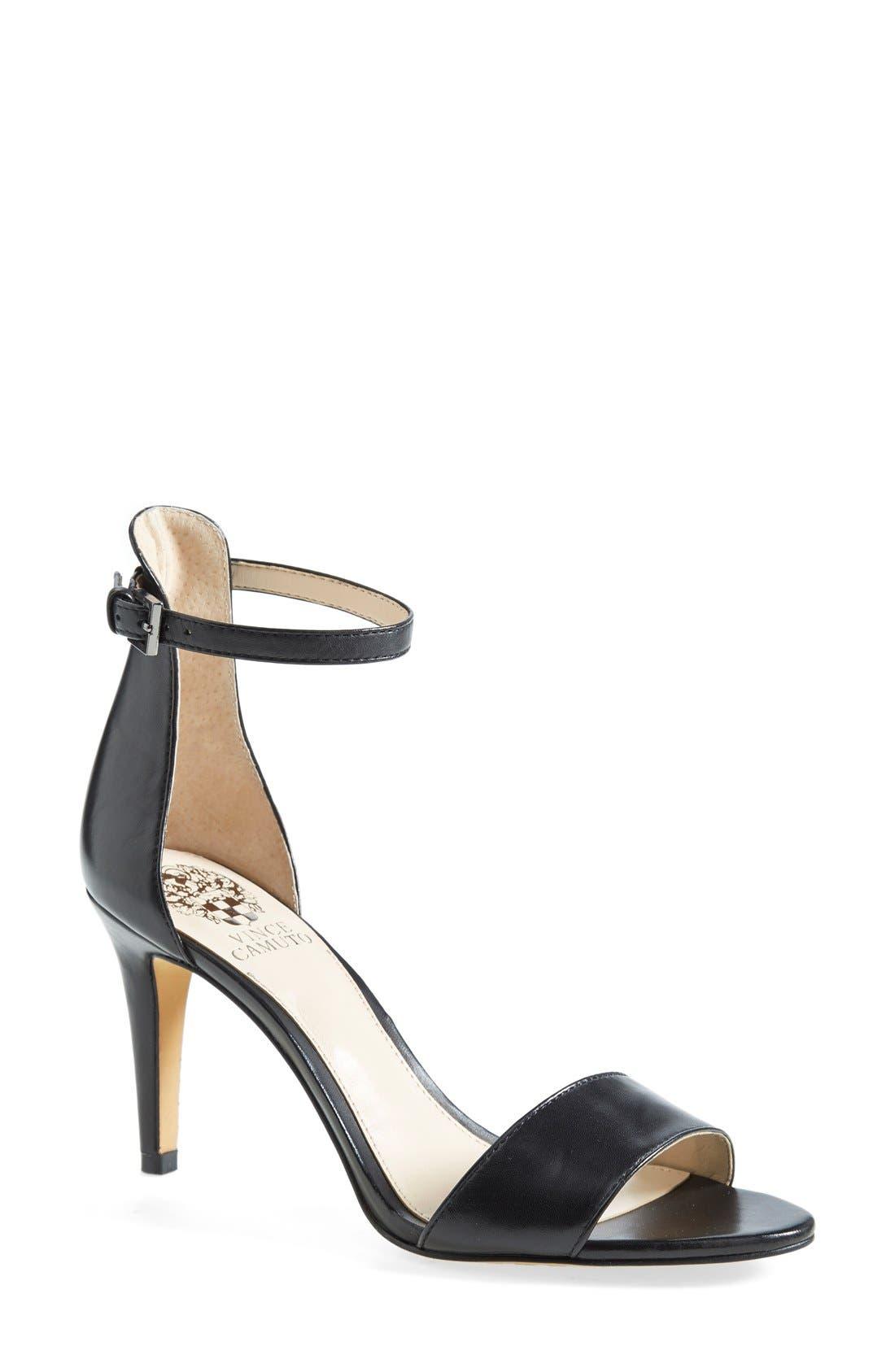 'Court' Ankle Strap Sandal,                             Main thumbnail 1, color,                             001