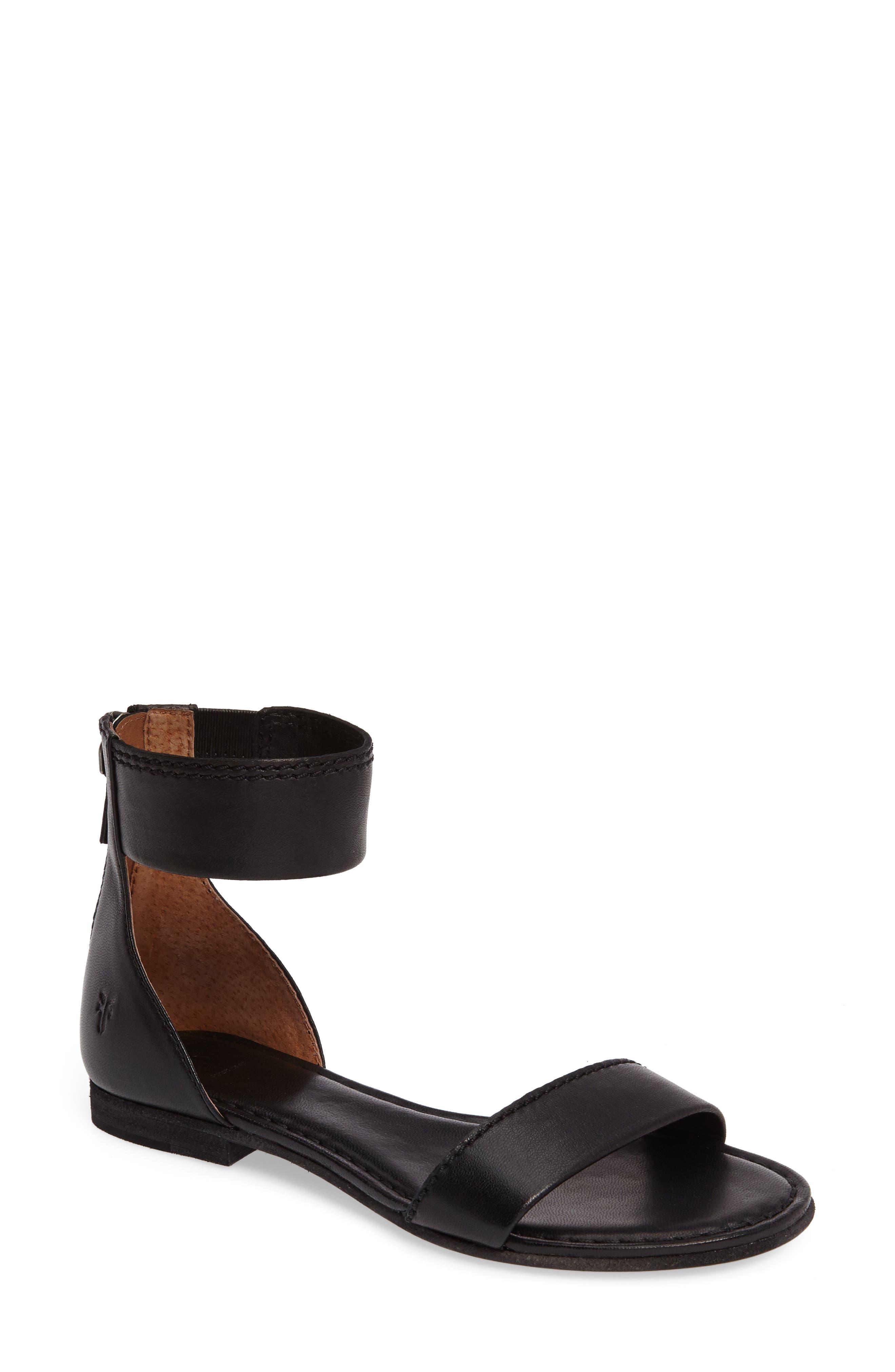 Carson Ankle Strap Sandal,                         Main,                         color, 001
