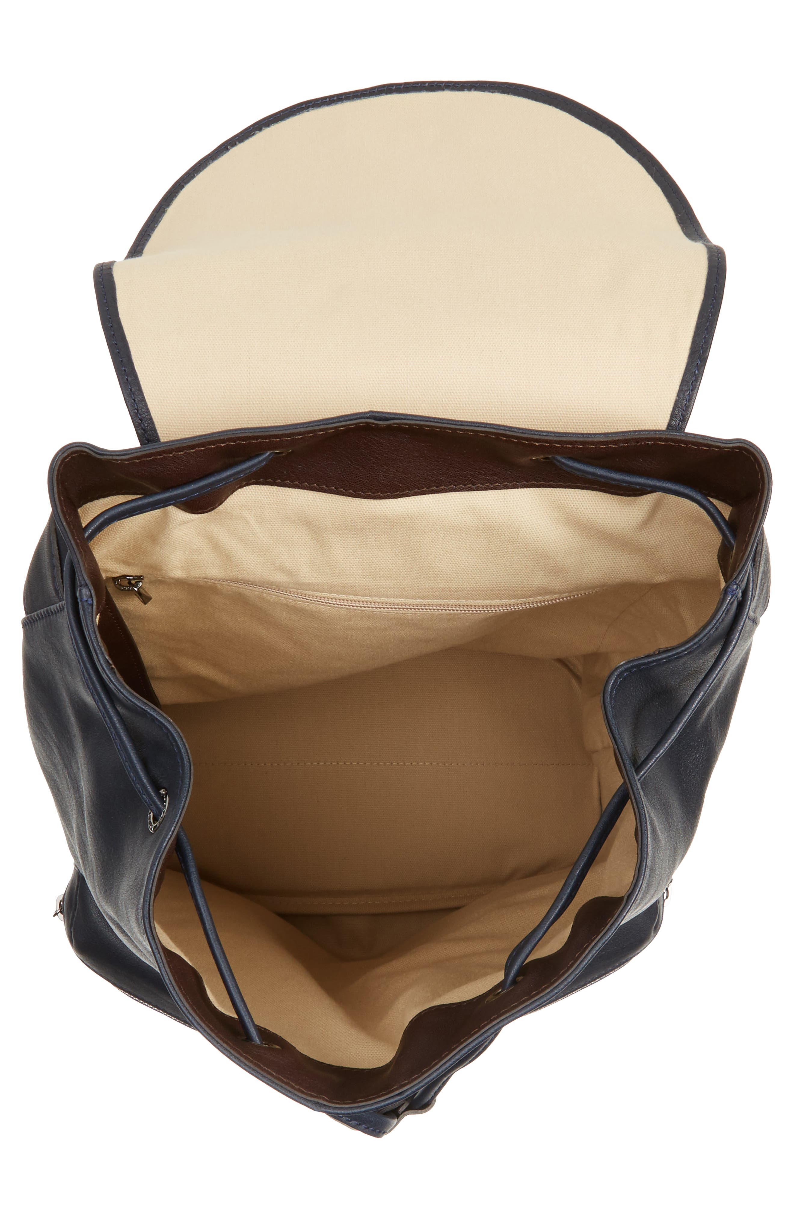 3D Leather Backpack,                             Alternate thumbnail 4, color,                             400