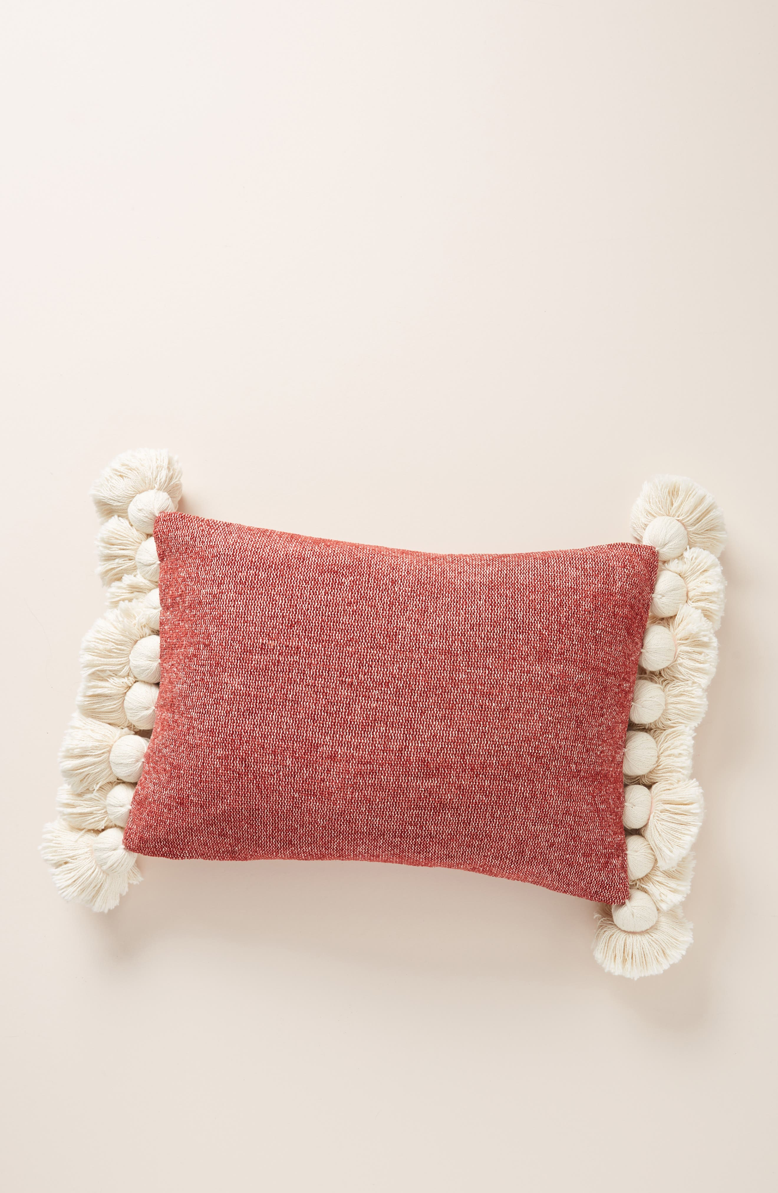 Nadia Tassel Accent Pillow,                             Alternate thumbnail 2, color,                             RUST