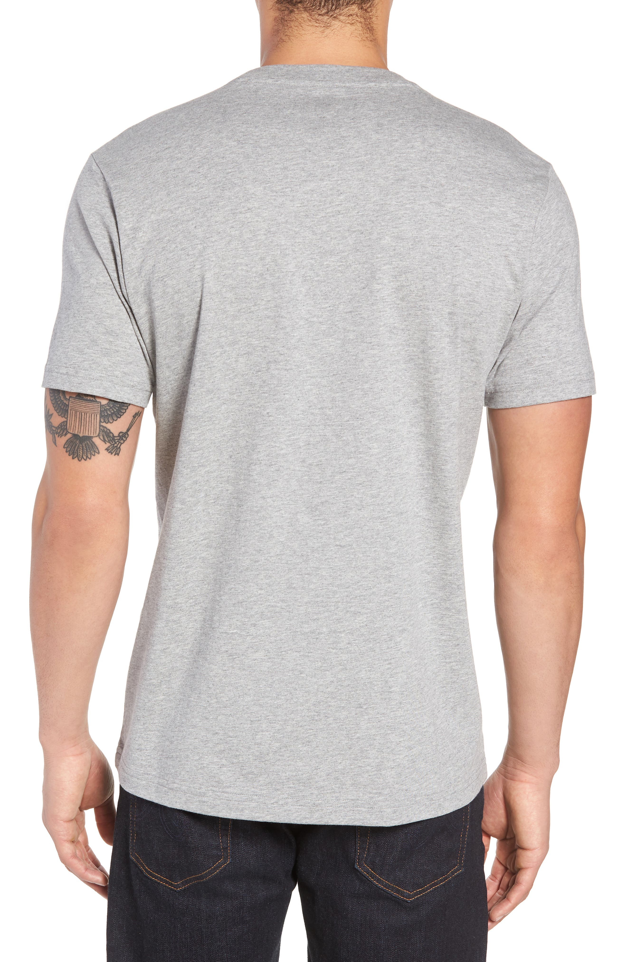 Print T-Shirt,                             Alternate thumbnail 2, color,                             HEATHER GREY