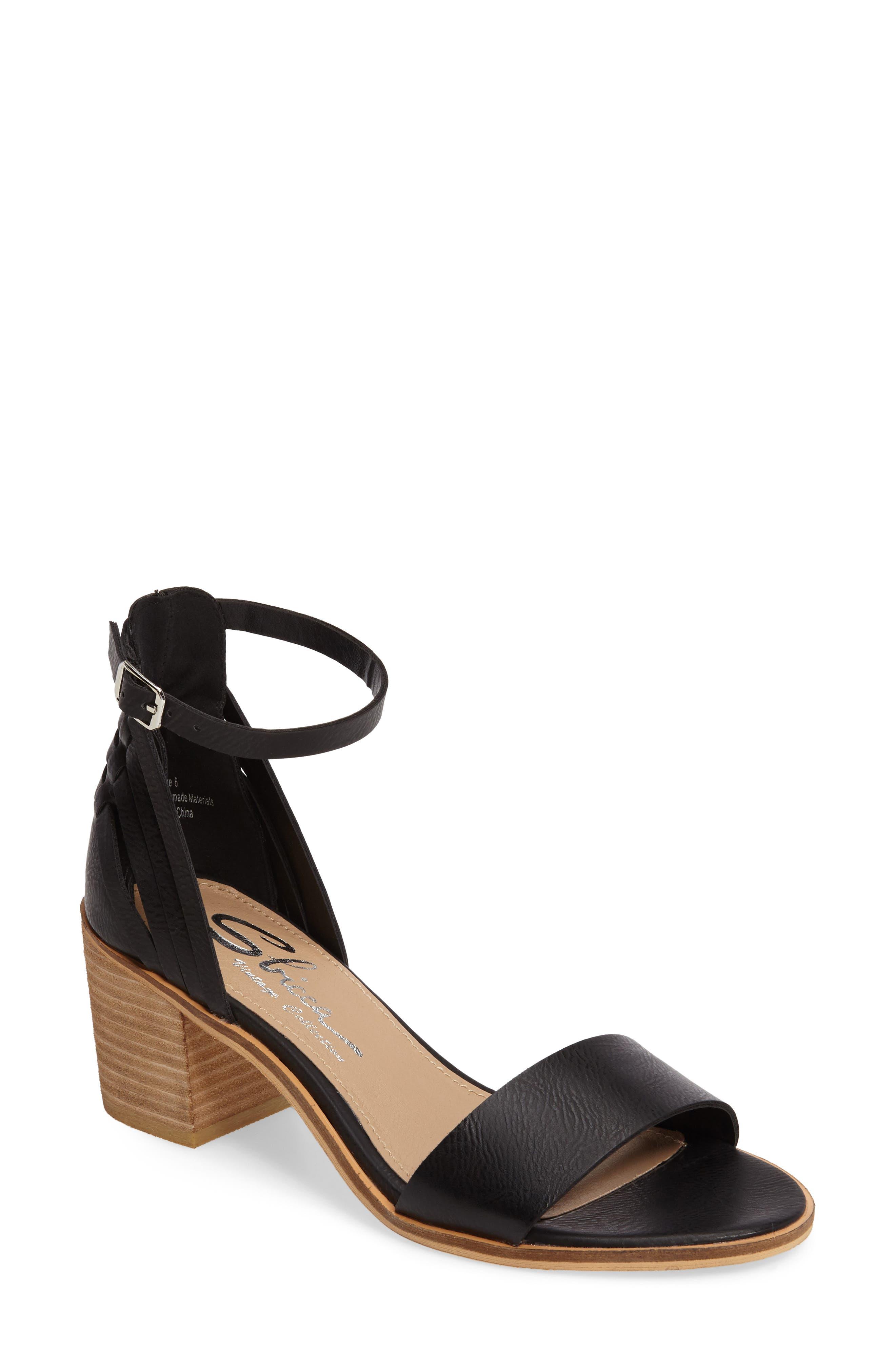 Fars Block Heel Sandal,                             Main thumbnail 1, color,                             001