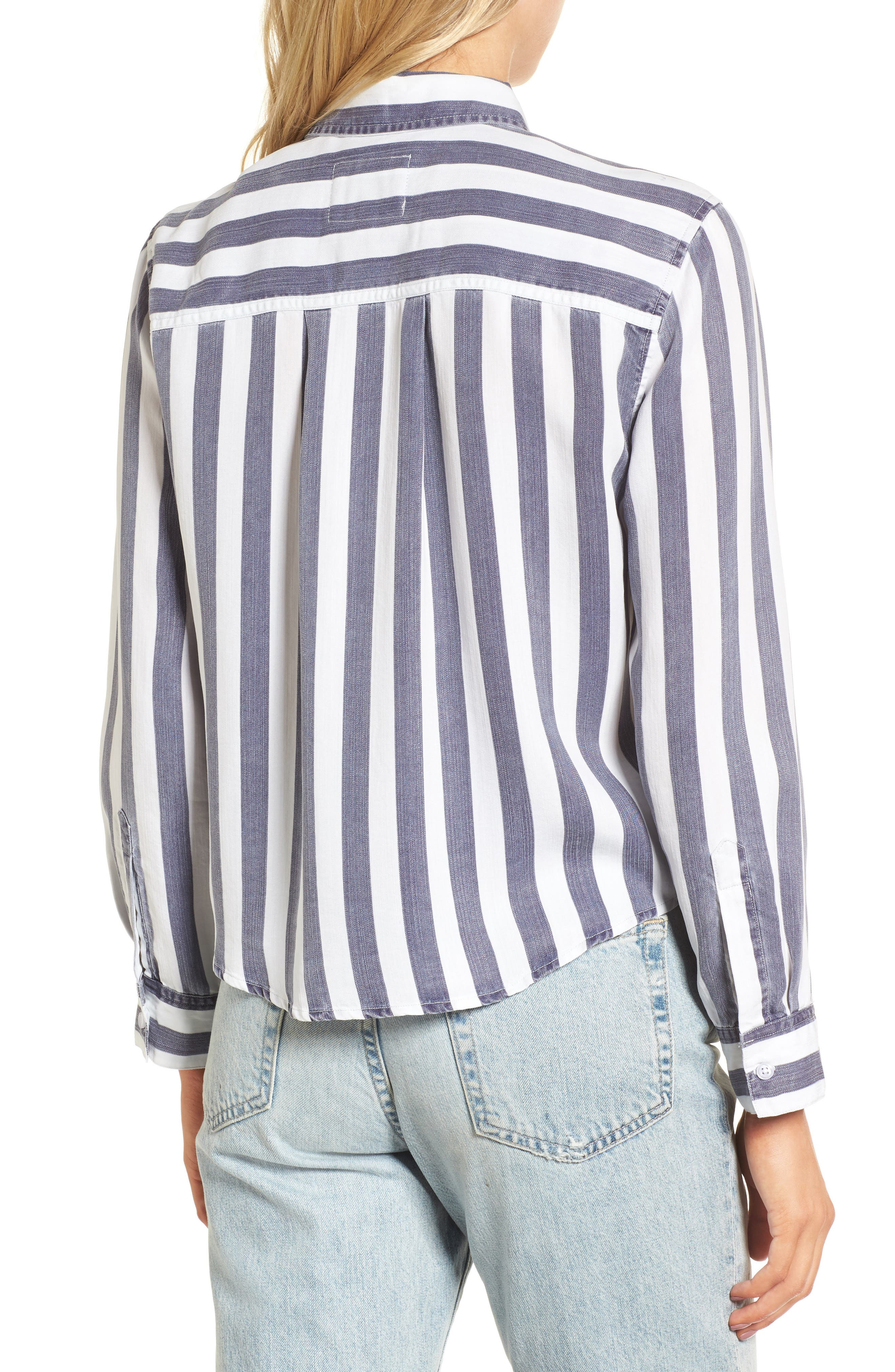 Val Stripe Tie Front Top,                             Alternate thumbnail 2, color,                             400
