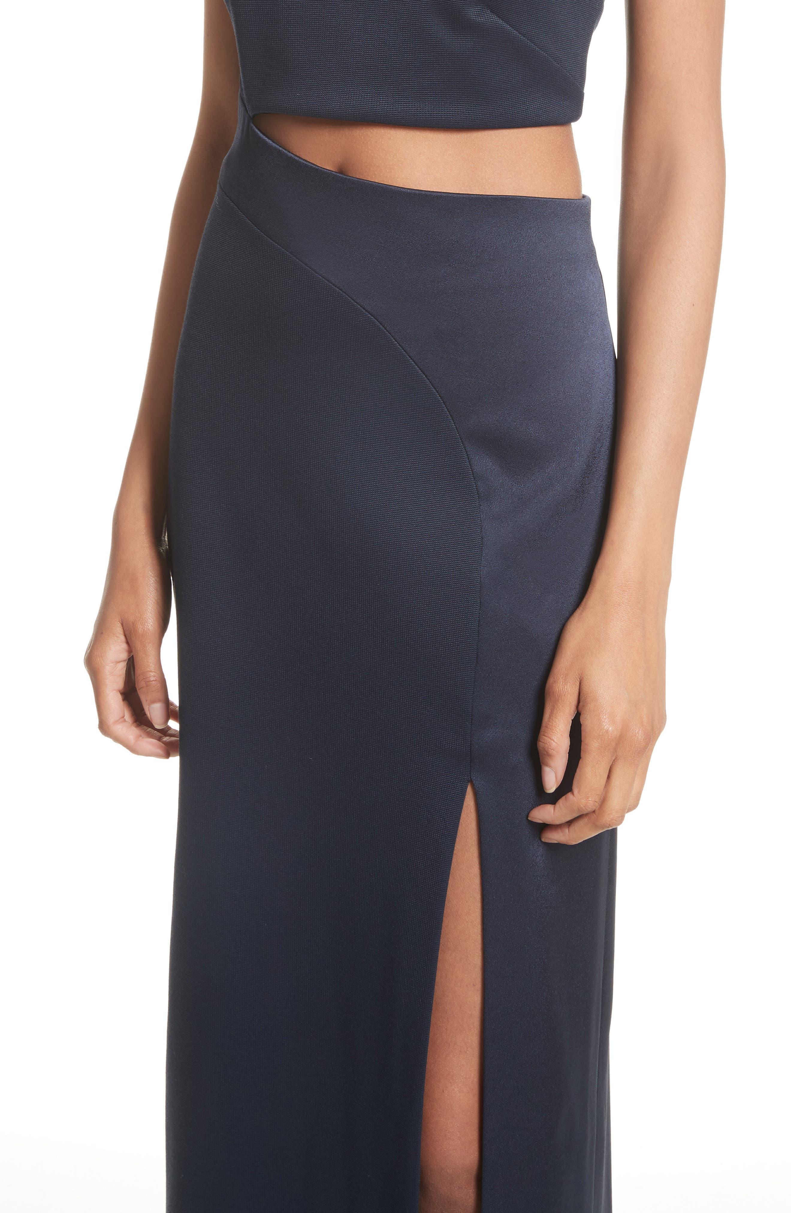 Cutout One-Shoulder Gown,                             Alternate thumbnail 4, color,