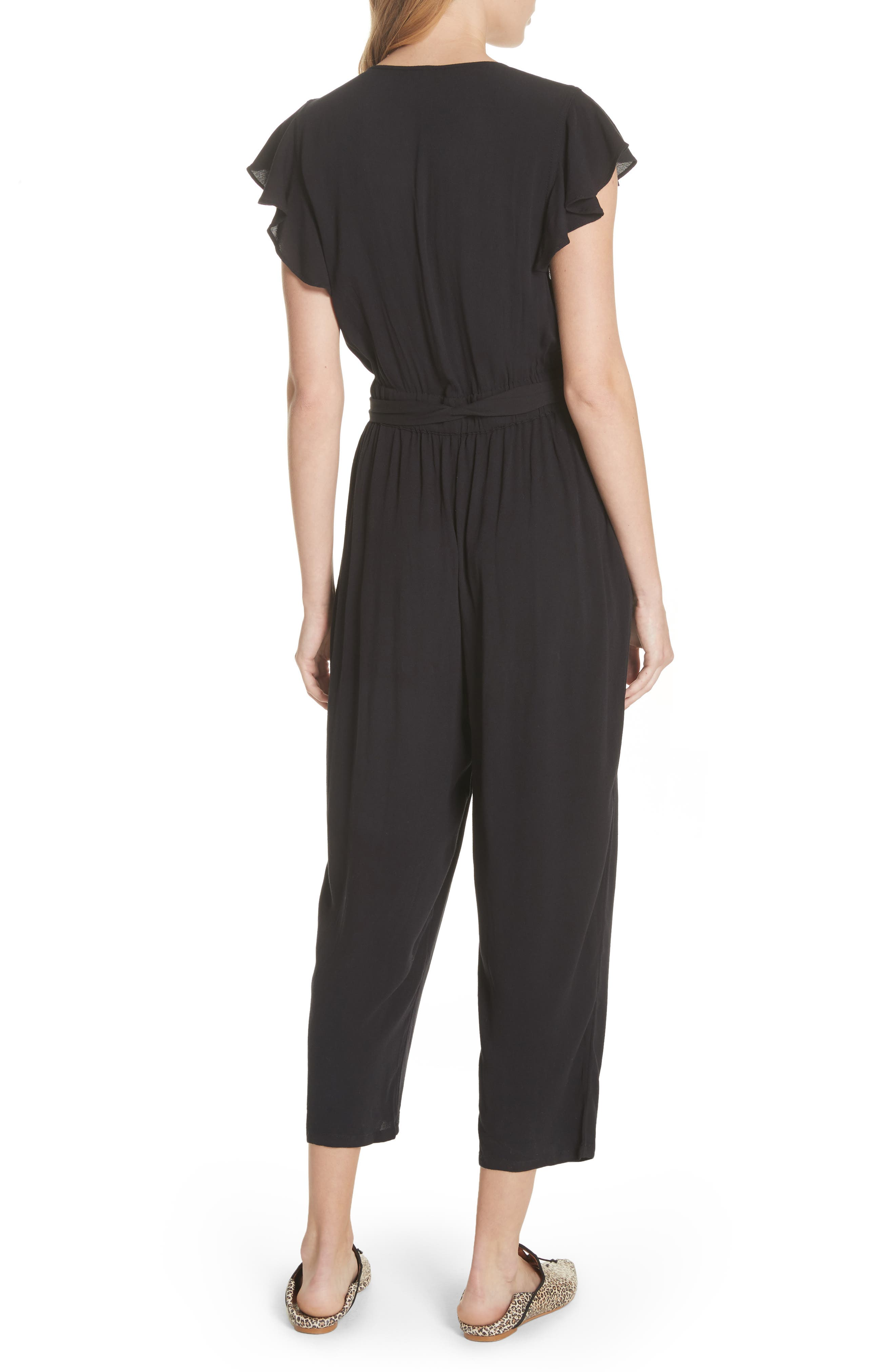 FREE PEOPLE,                             Ruffle Your Feather Jumpsuit,                             Alternate thumbnail 2, color,                             001