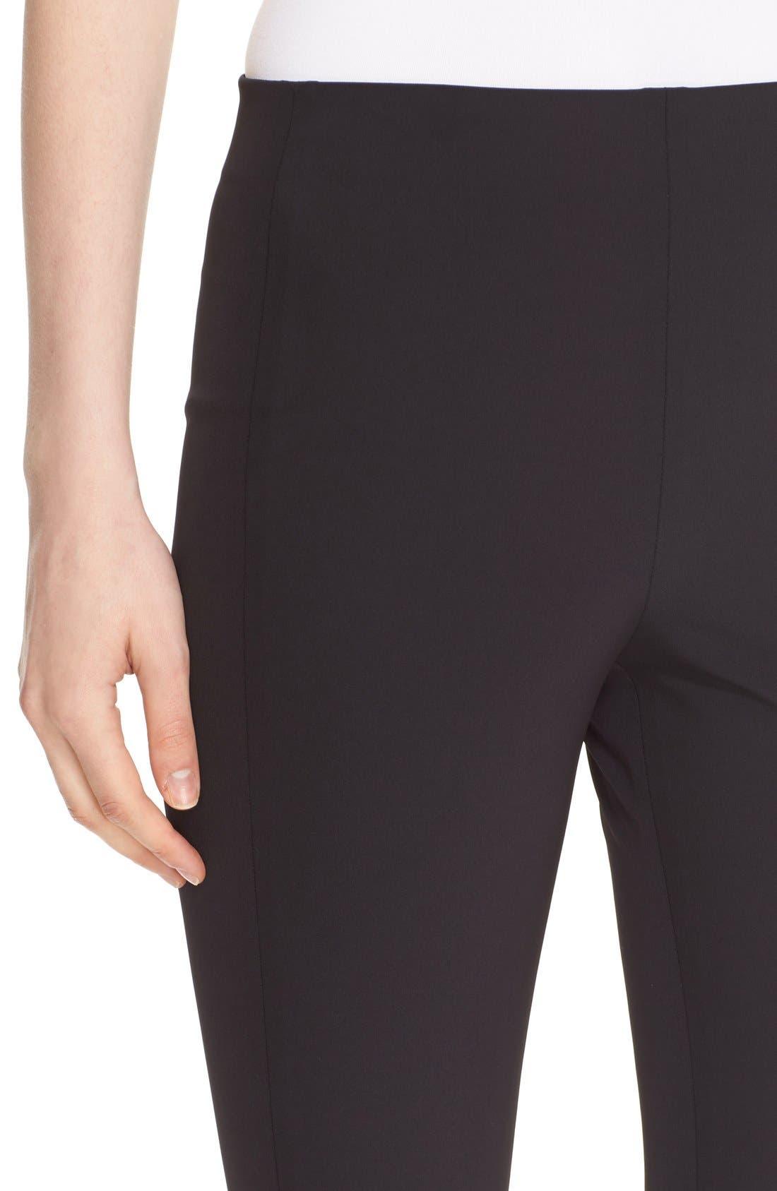 'Navalane Becker' Stretch Ponte Skinny Pants,                             Alternate thumbnail 4, color,                             001