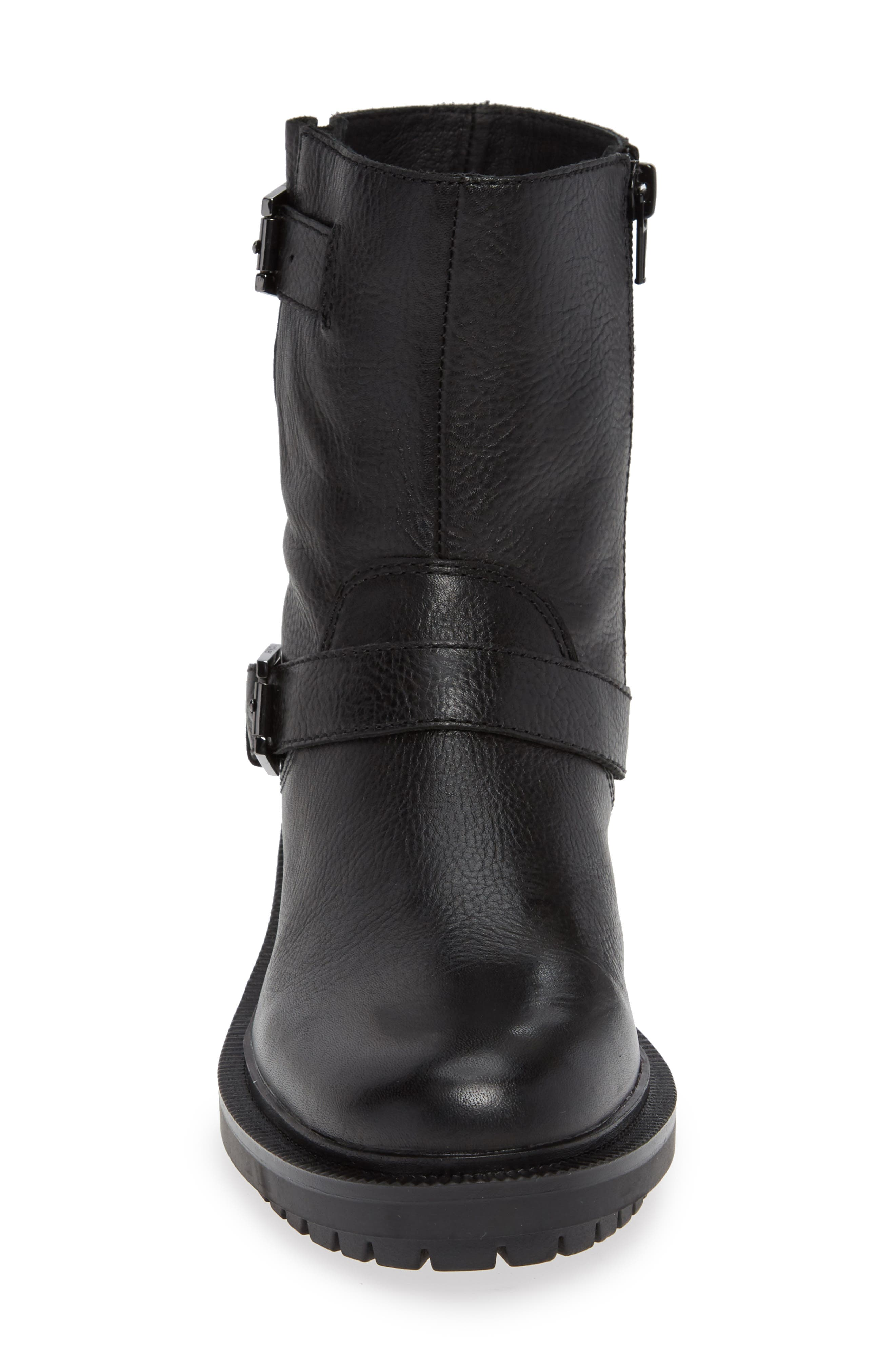 Marlow Boot,                             Alternate thumbnail 4, color,                             BLACK LEATHER