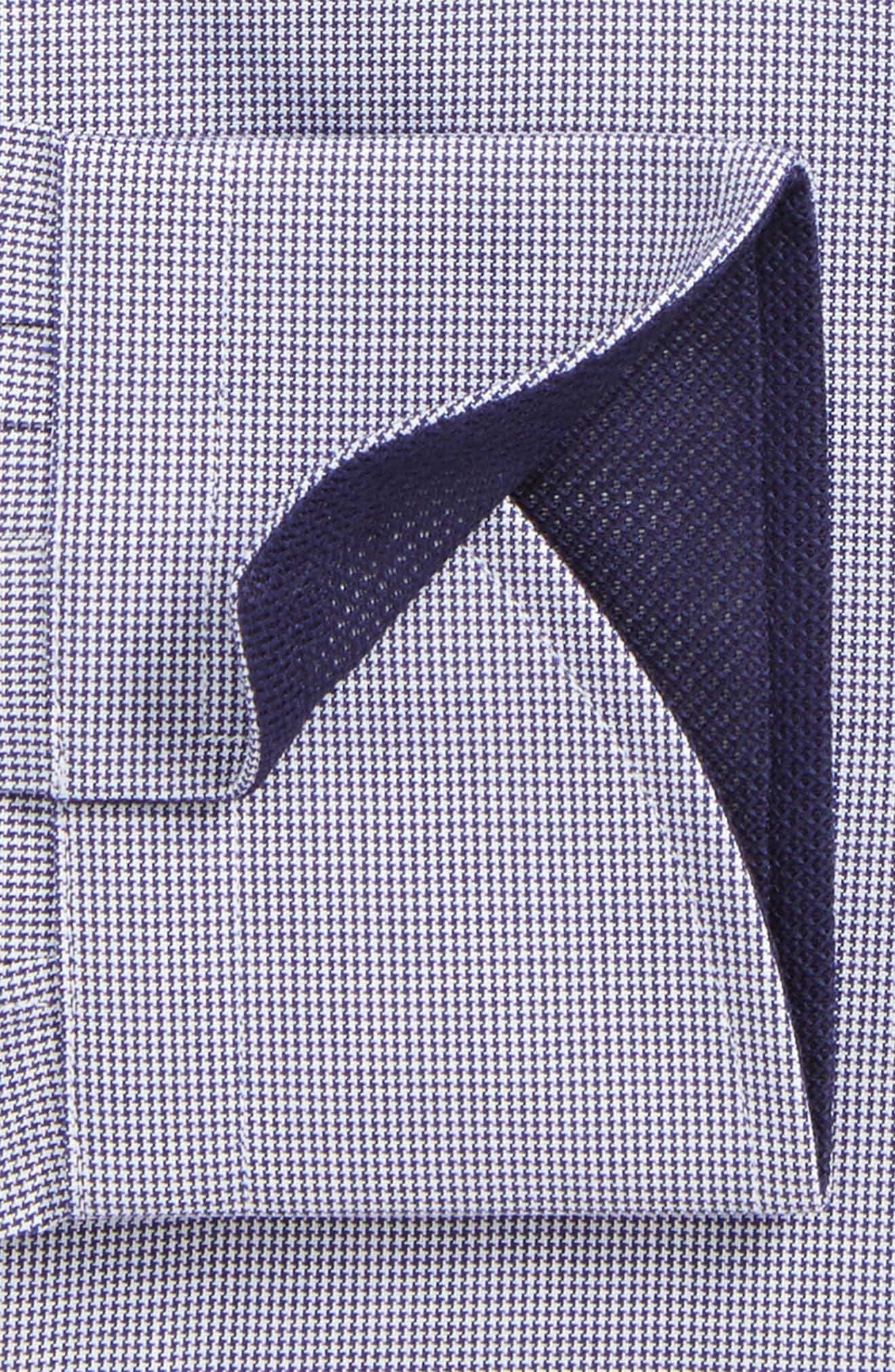 Regular Fit Houndstooth Dress Shirt,                             Alternate thumbnail 2, color,