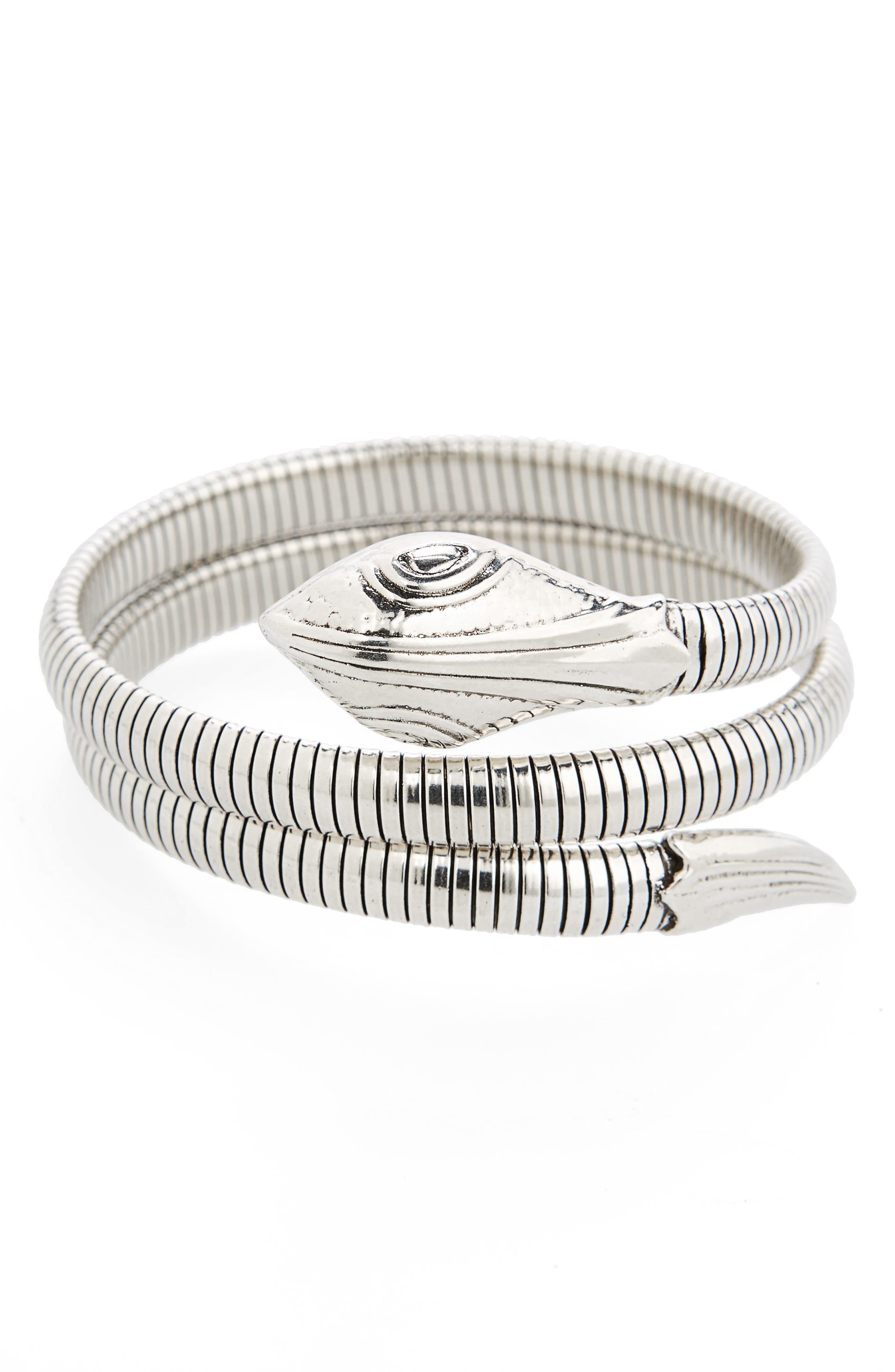 Snake Wrap Bracelet,                             Main thumbnail 1, color,