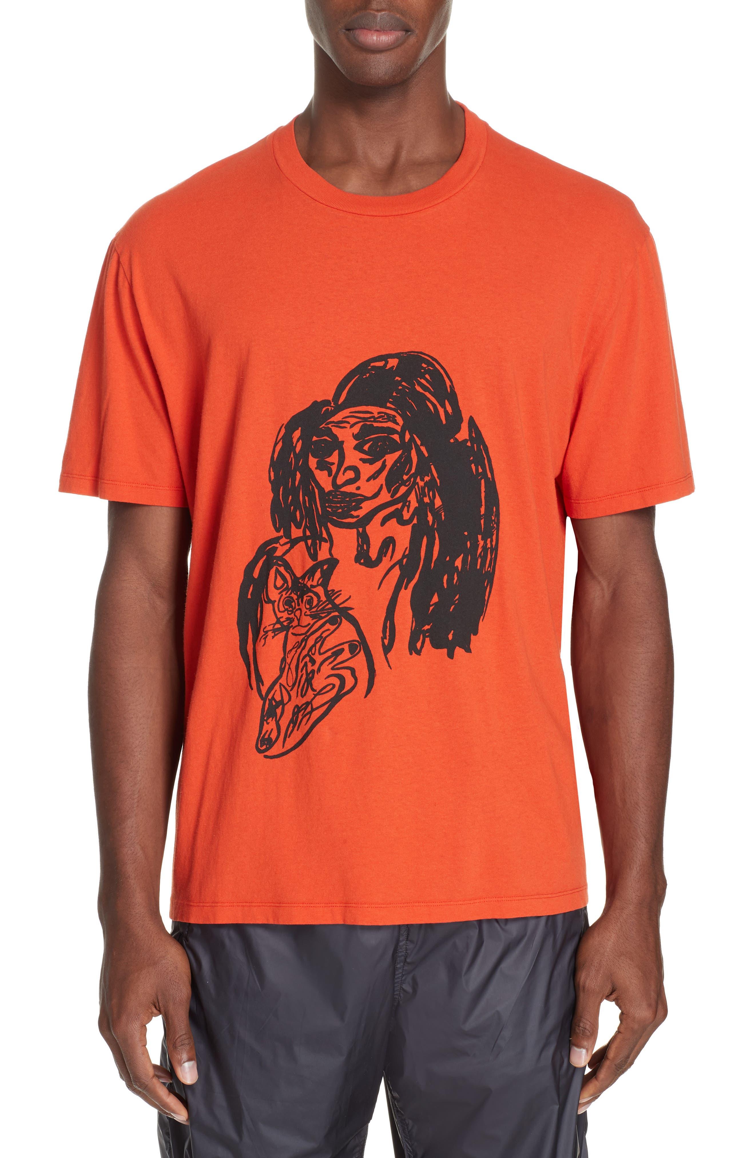Portrait Graphic Box T-shirt,                         Main,                         color, RED