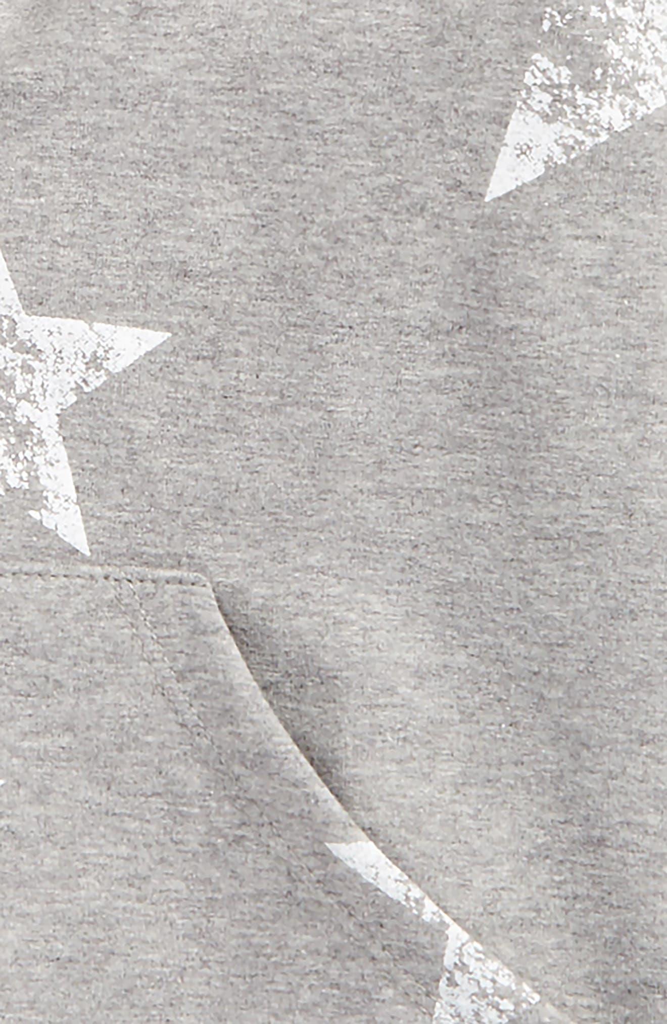 Star Print Hoodie,                             Alternate thumbnail 2, color,