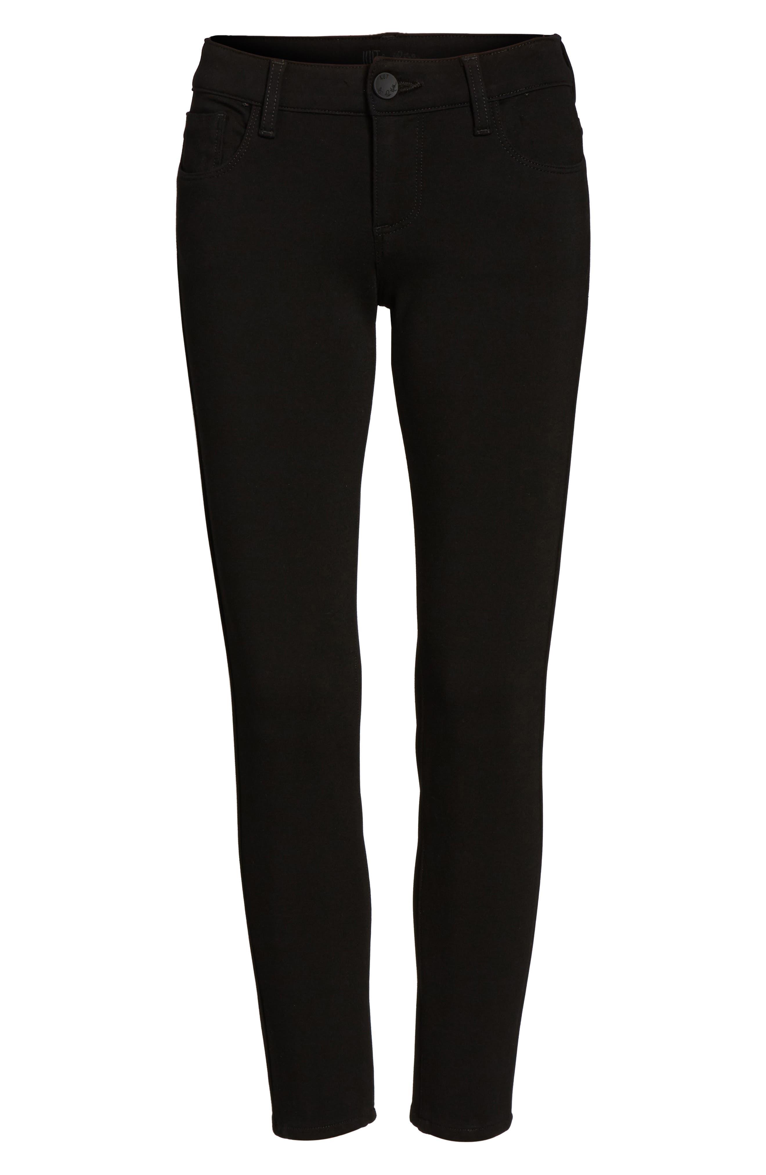 Donna Ponte Knit Skinny Jeans,                             Alternate thumbnail 6, color,                             002