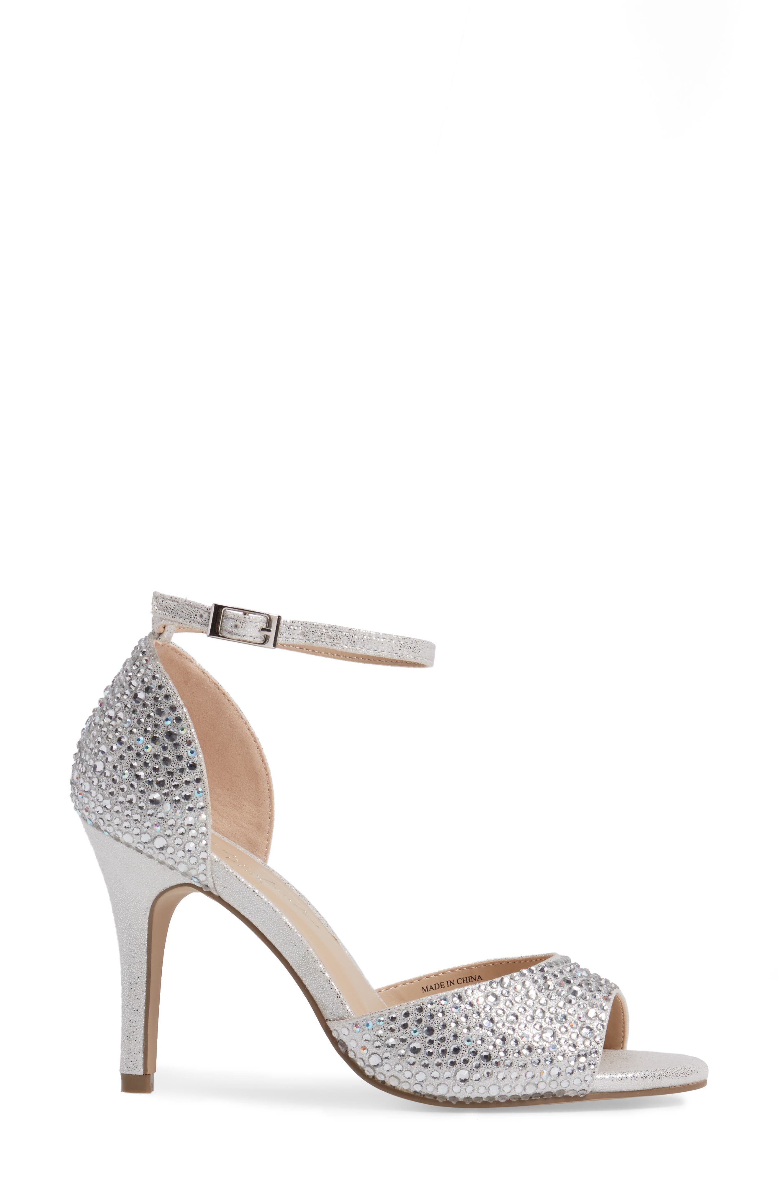 Mira Embellished Glitter Sandal,                             Alternate thumbnail 3, color,