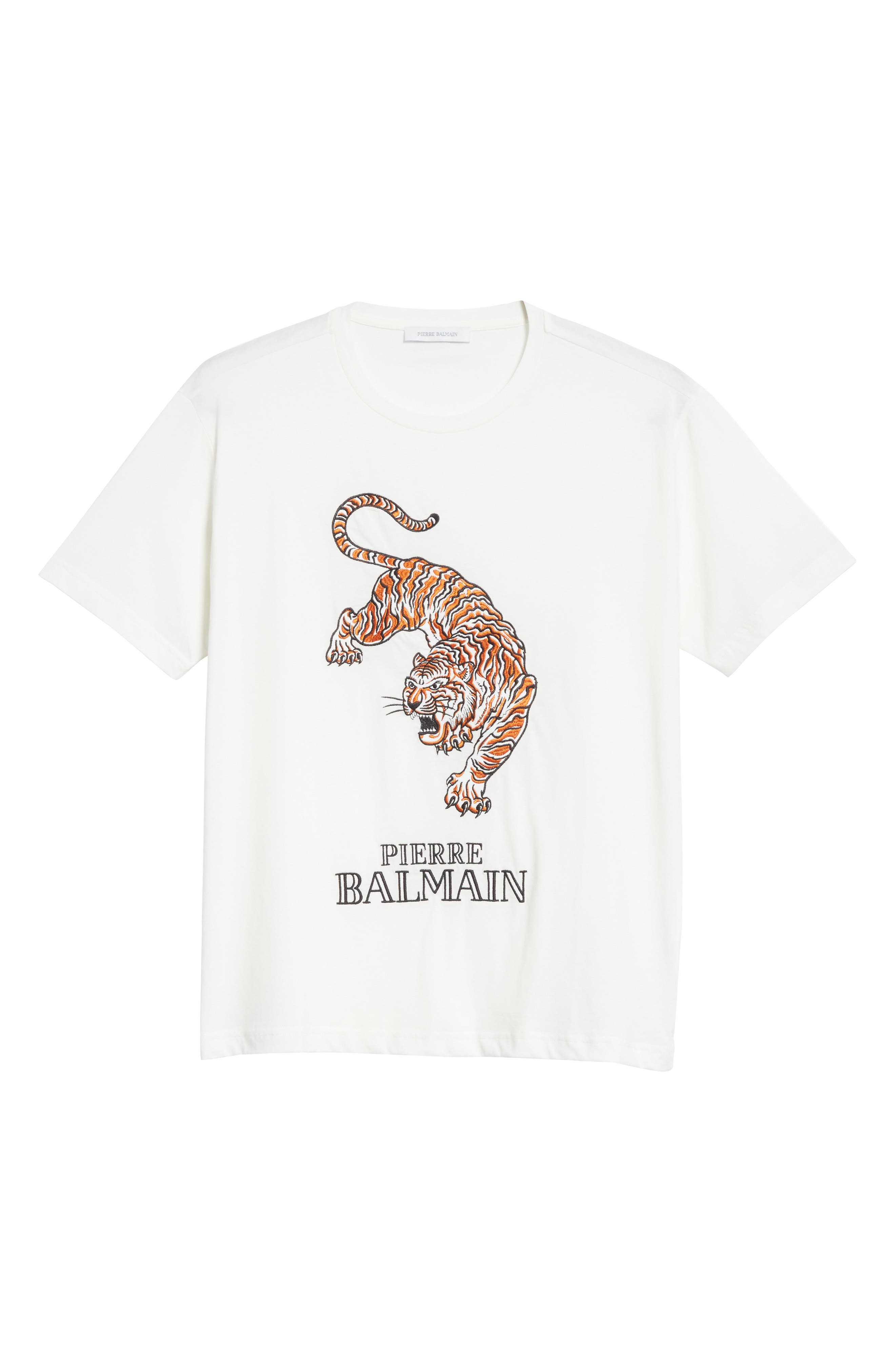 Embroidered Tiger T-Shirt,                             Alternate thumbnail 6, color,                             100