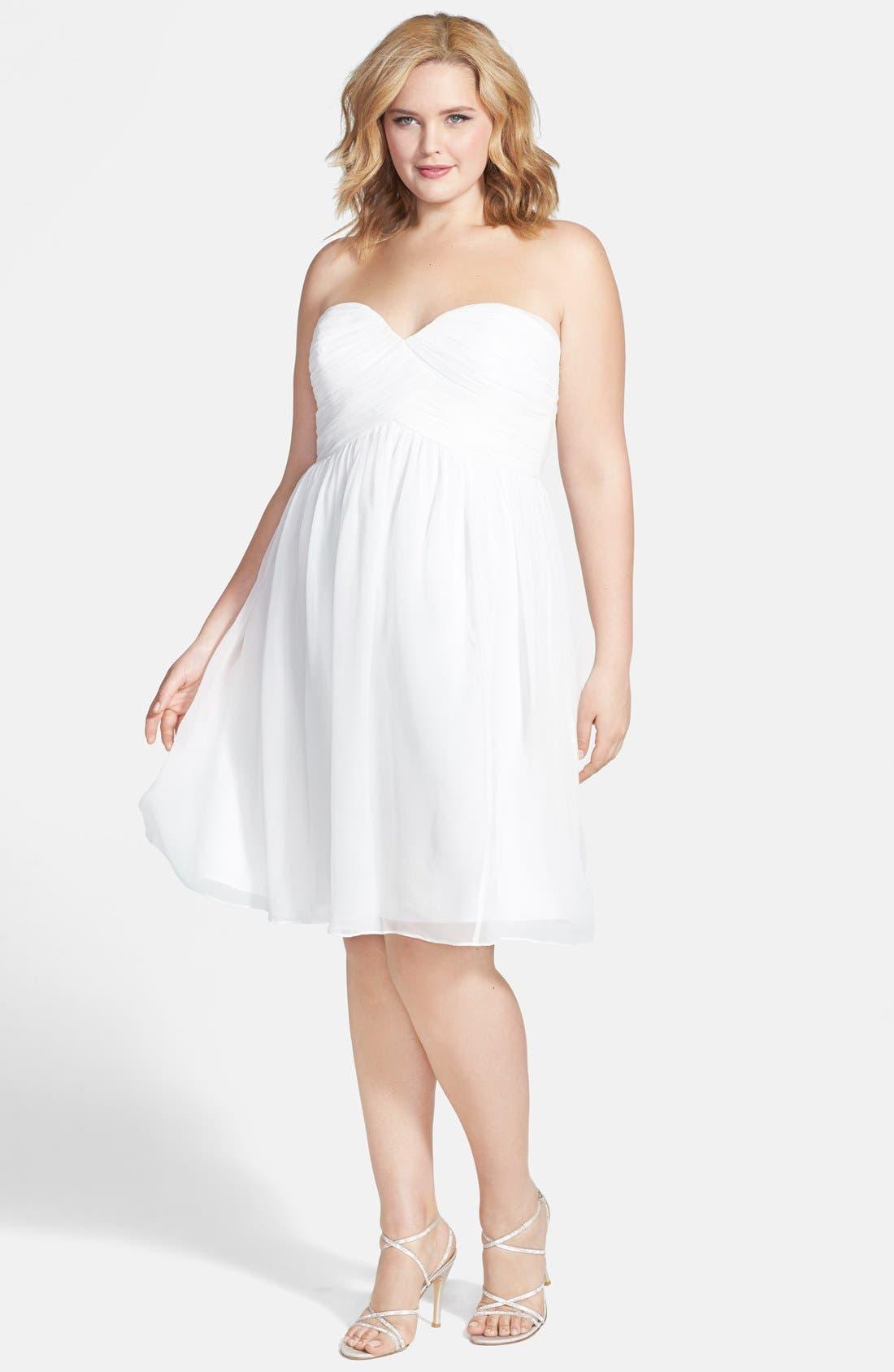 'Morgan' Strapless Silk Chiffon Dress,                             Alternate thumbnail 148, color,