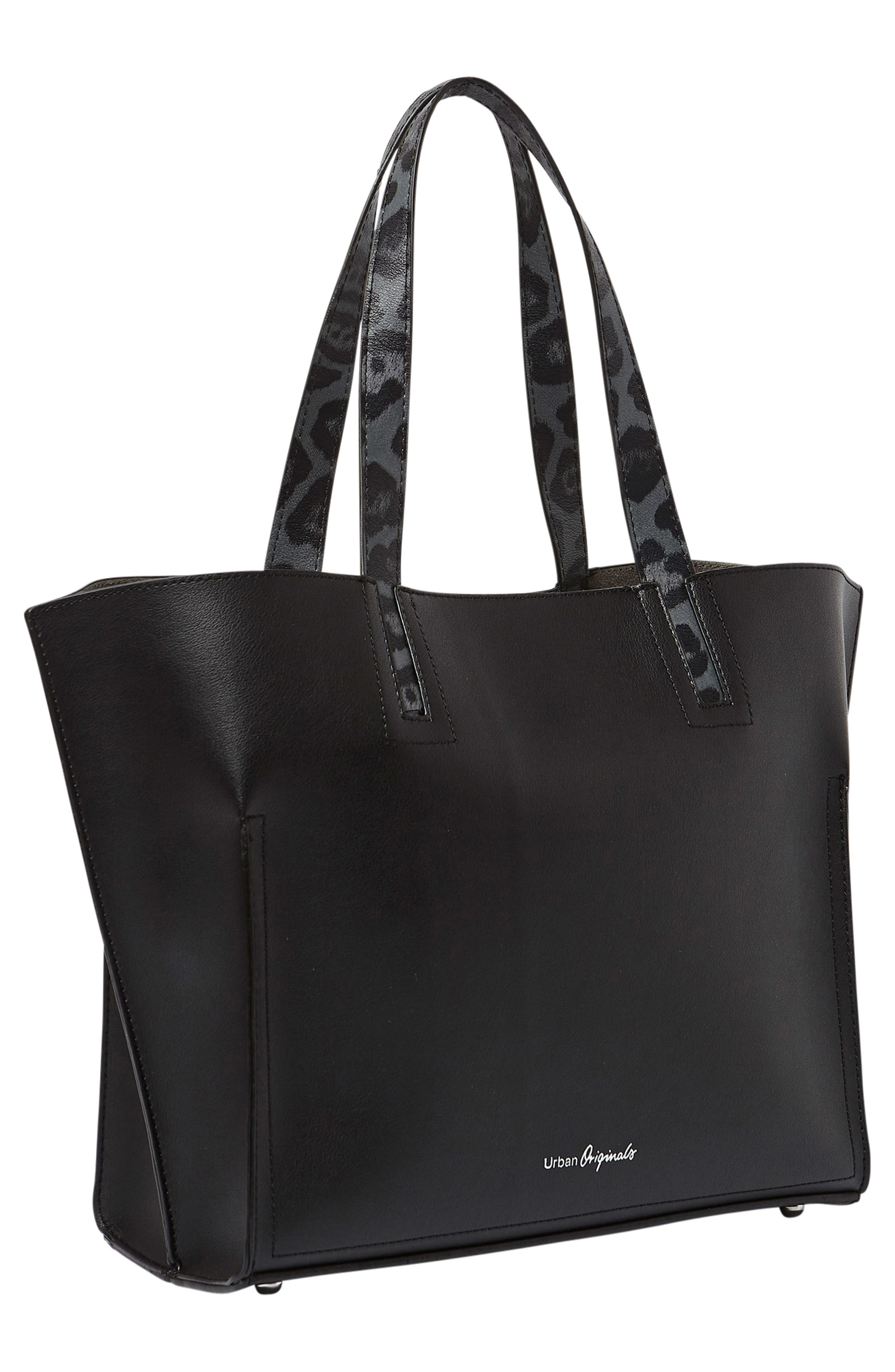 Obsession Vegan Leather Tote,                             Alternate thumbnail 5, color,