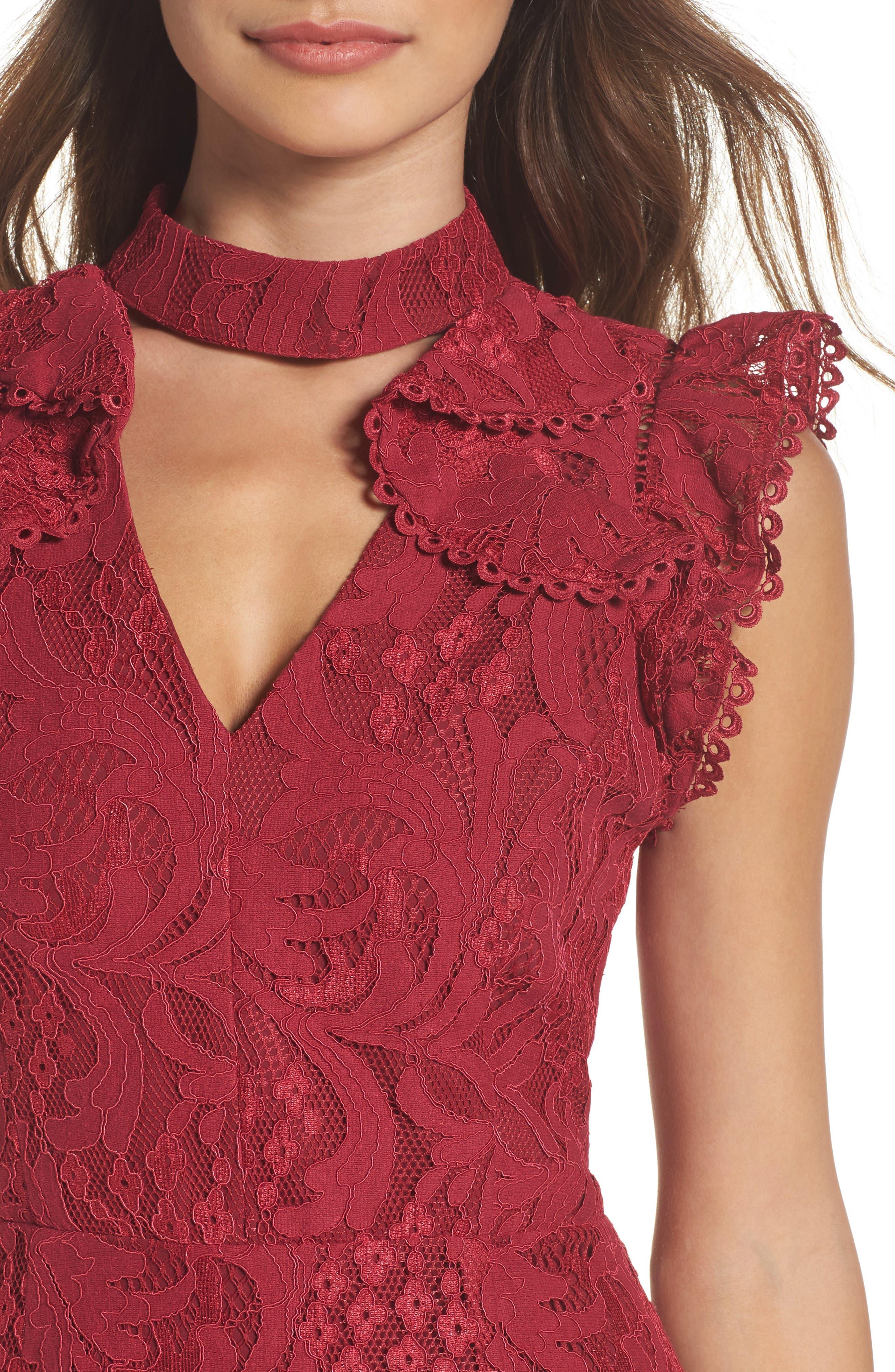 Delilah Lace Sheath Dress,                             Alternate thumbnail 8, color,