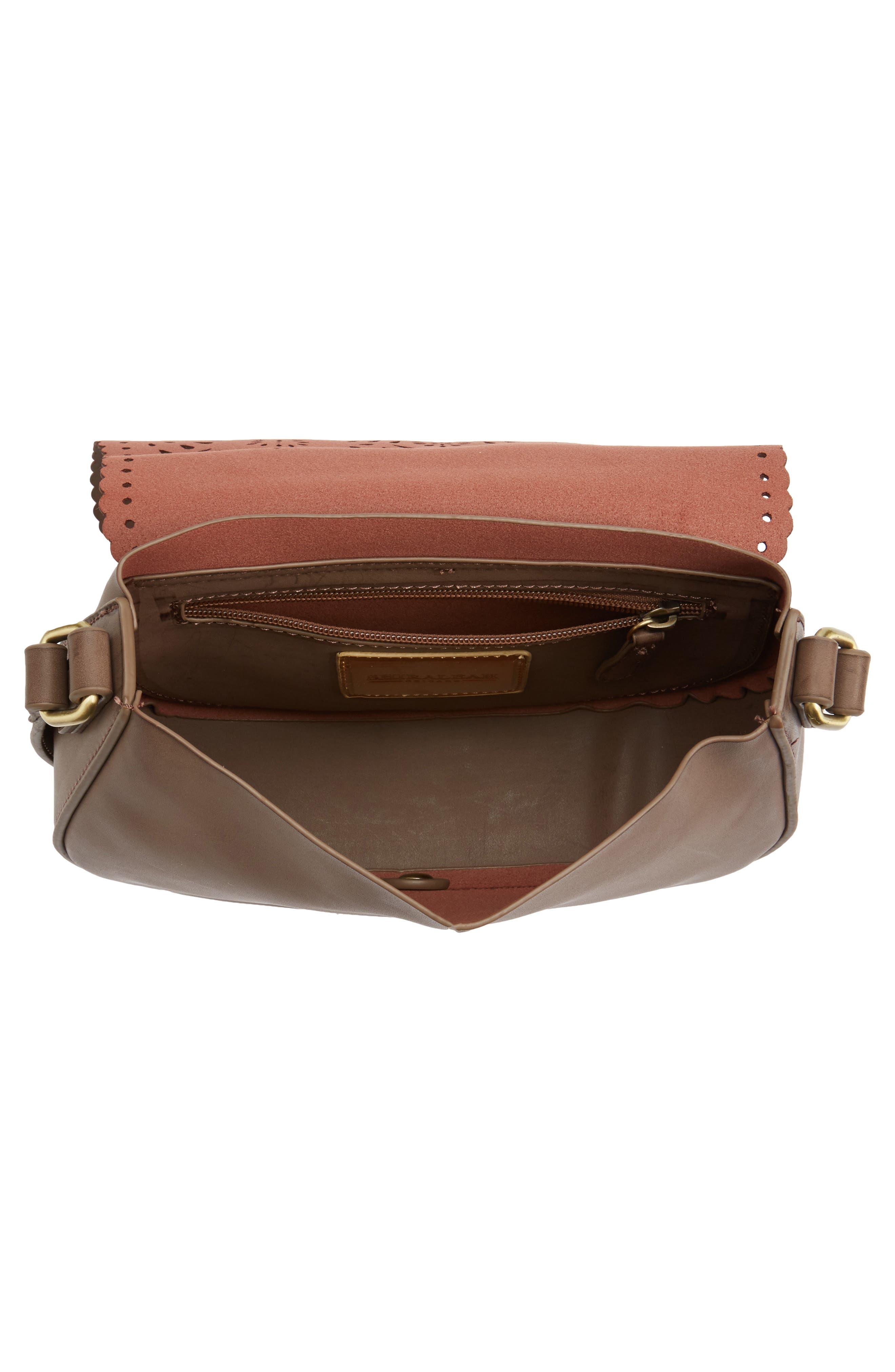 Dakota Faux Leather Saddle Bag,                             Alternate thumbnail 4, color,                             022