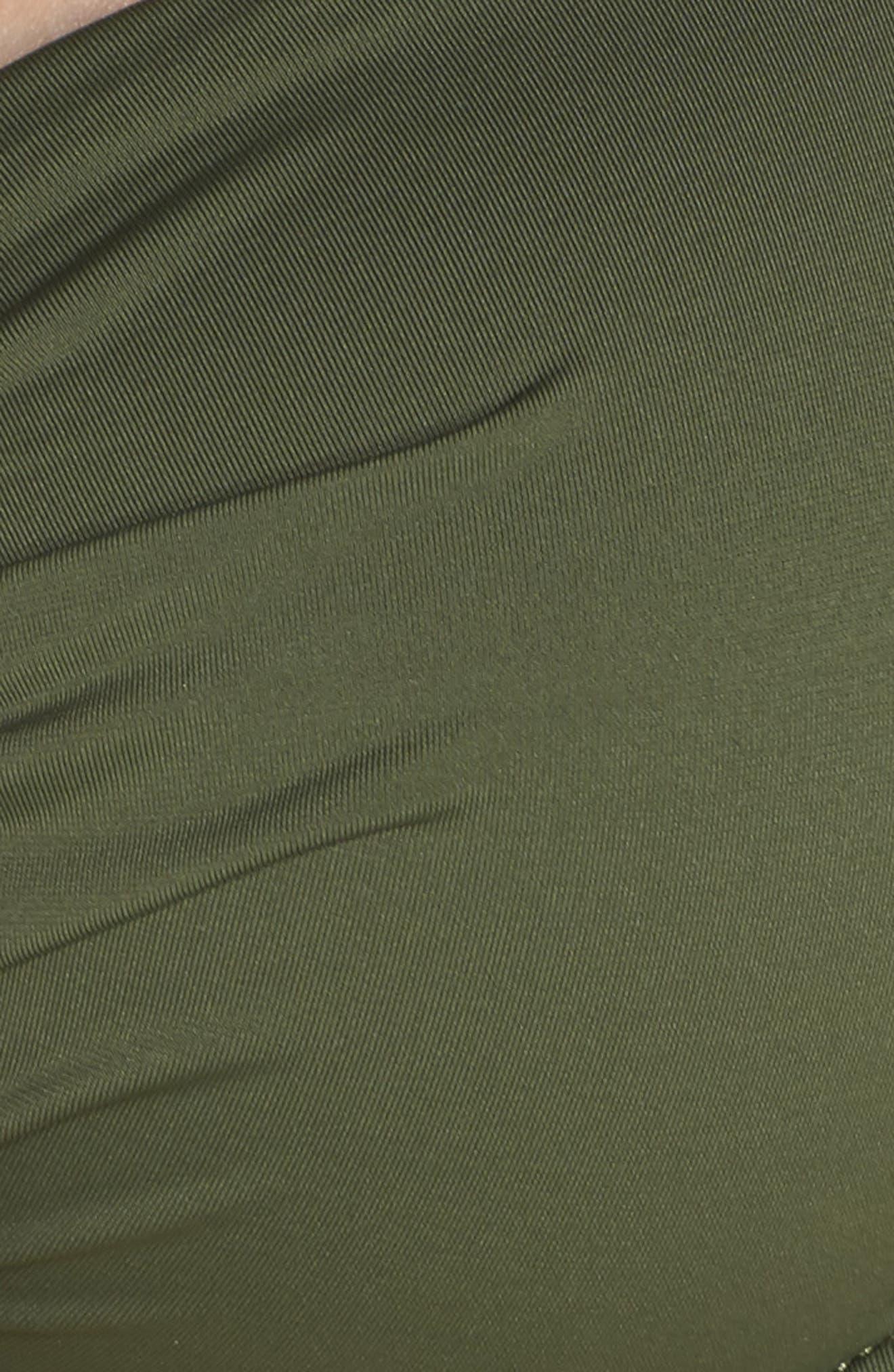 Underwire Halter Bikini Top,                             Alternate thumbnail 5, color,                             DARK TEA LEAF