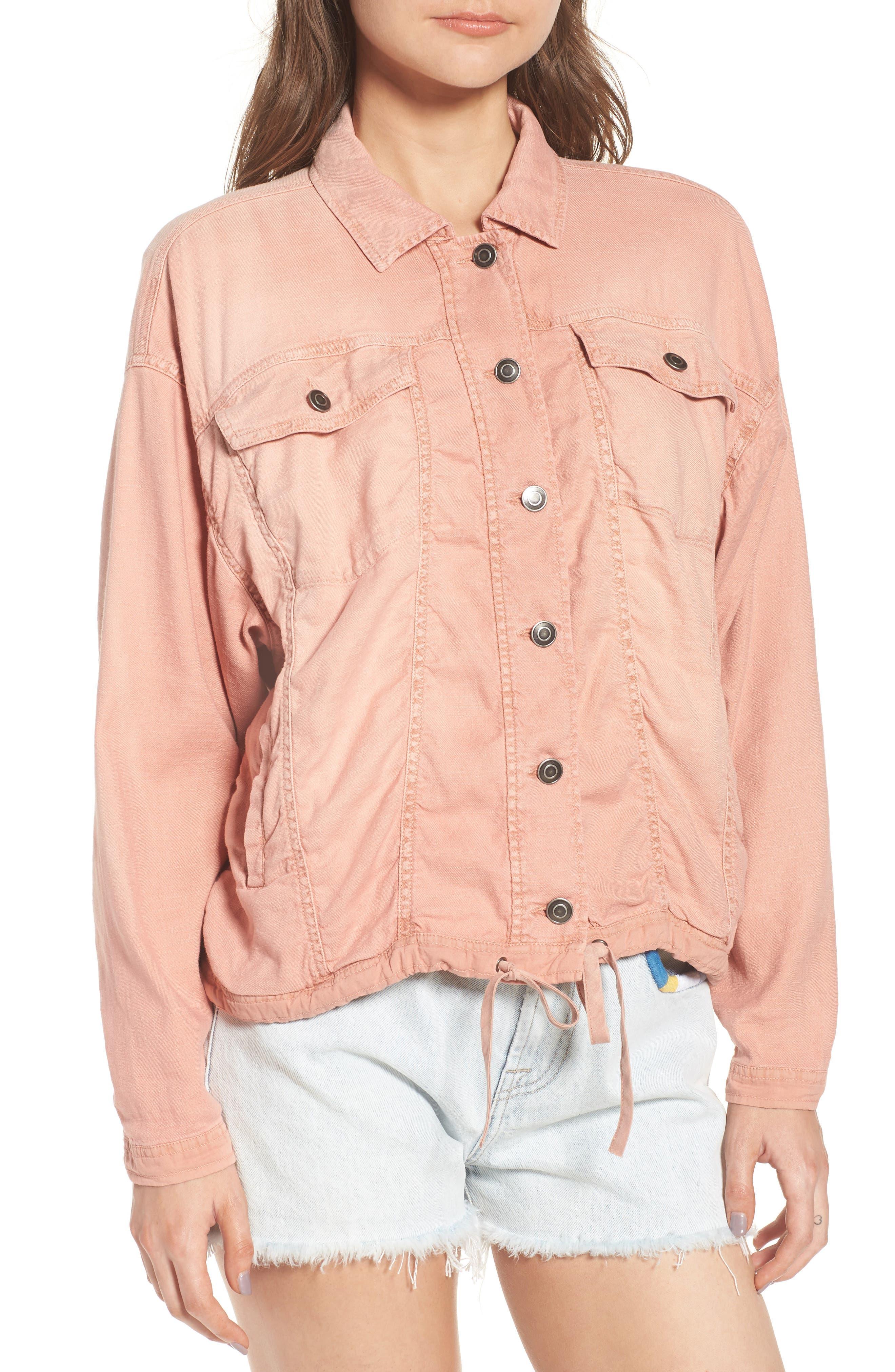 Linen Blend Drape Jacket,                             Alternate thumbnail 8, color,