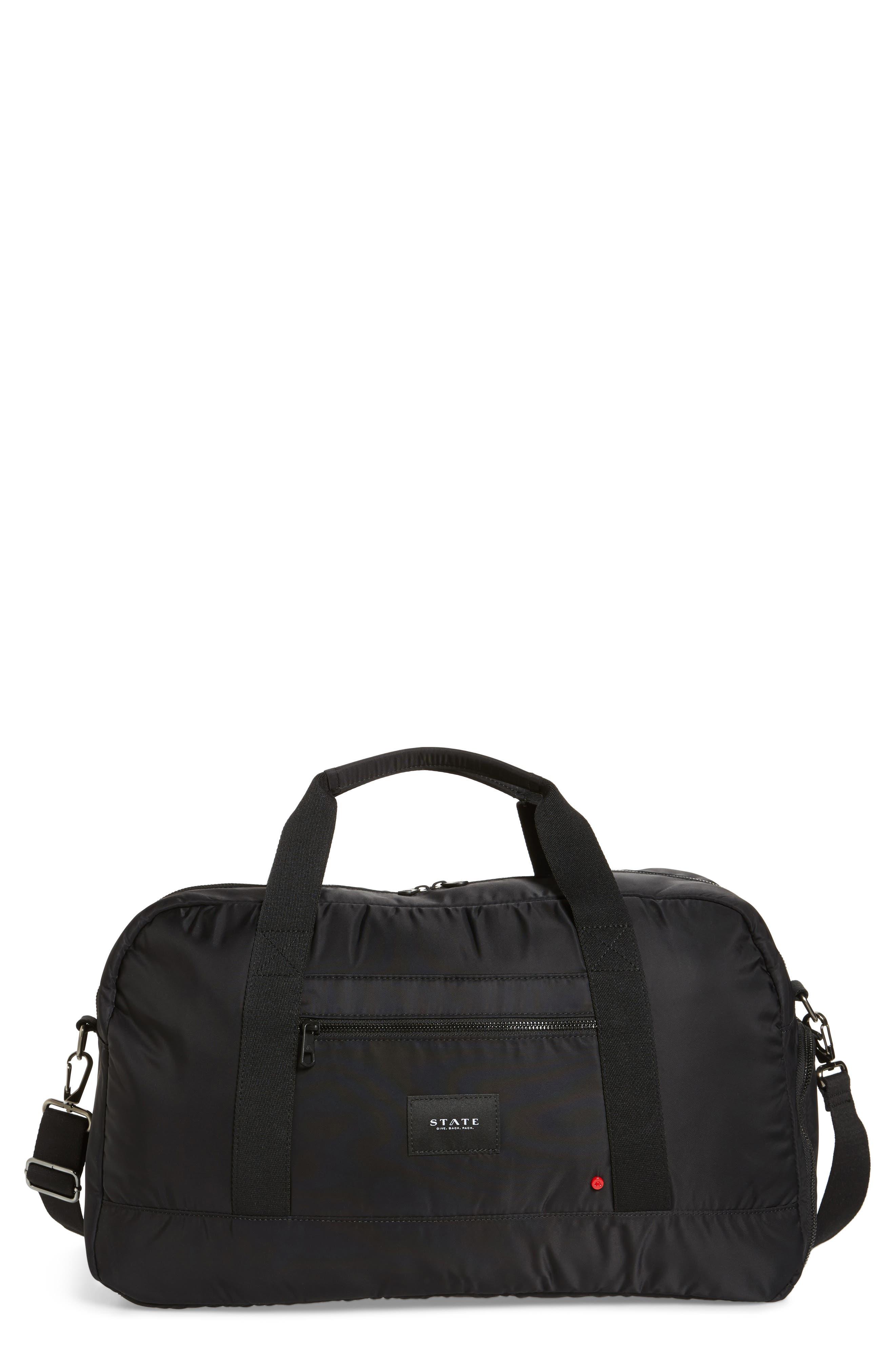 The Heights - Franklin Nylon Duffel Bag,                             Main thumbnail 1, color,                             BLACK