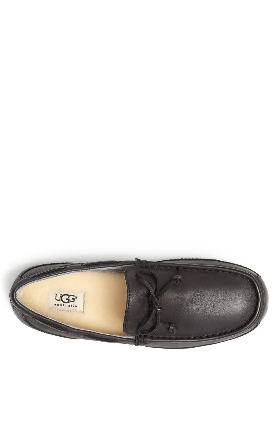 'Chester' Driving Loafer,                             Alternate thumbnail 3, color,                             001
