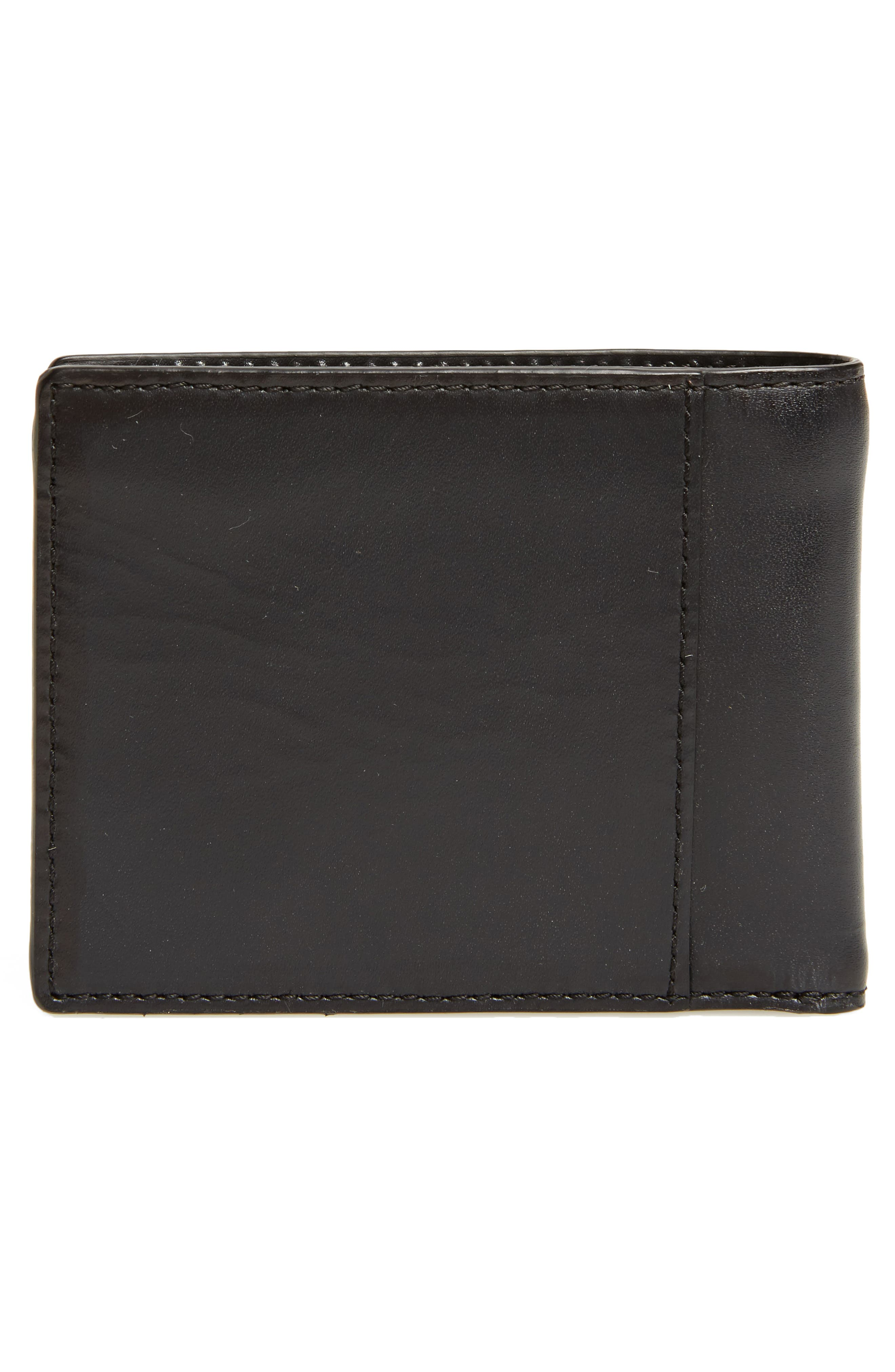 Bifold Leather Wallet,                             Alternate thumbnail 3, color,