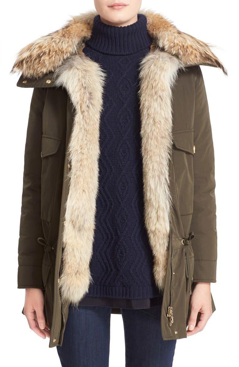 MONCLER  Margarita  Down Jacket with Removable Genuine Coyote Collar and  Rabbit Fur Vest 859eb7bd7c1d