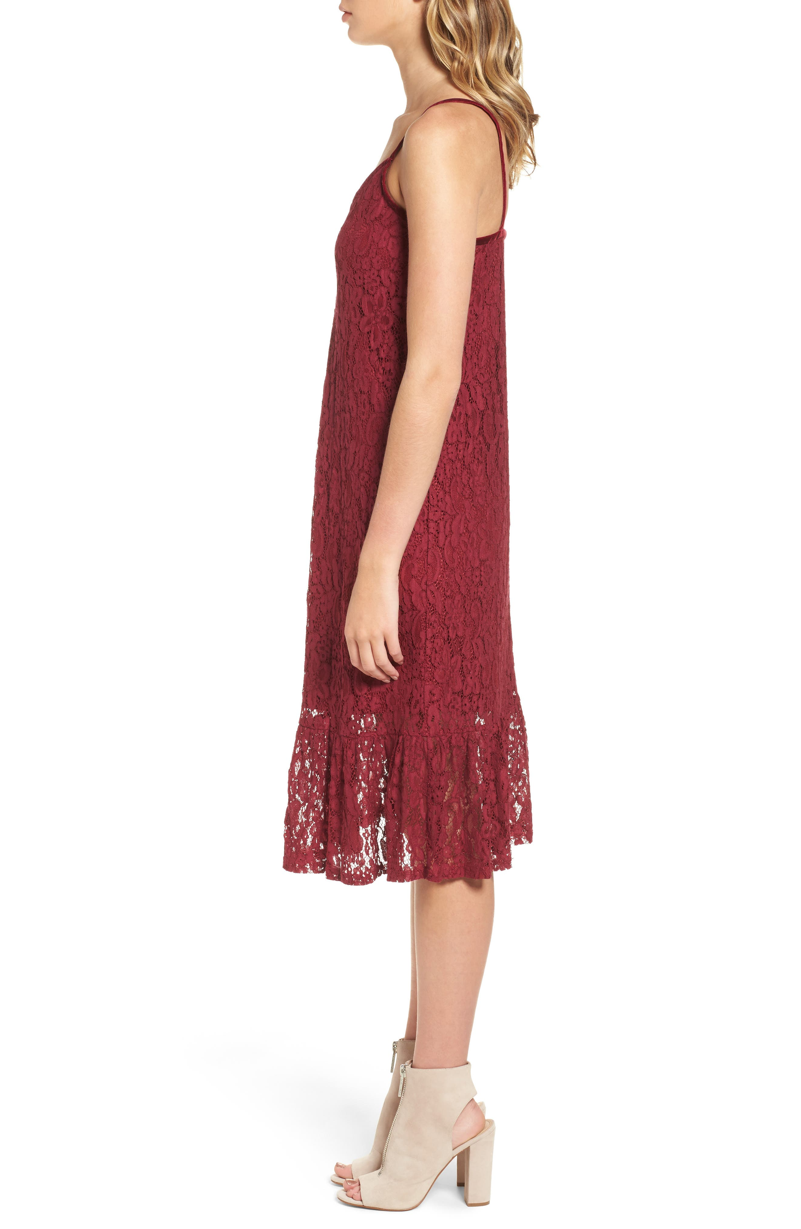 Lace Midi Dress,                             Alternate thumbnail 6, color,