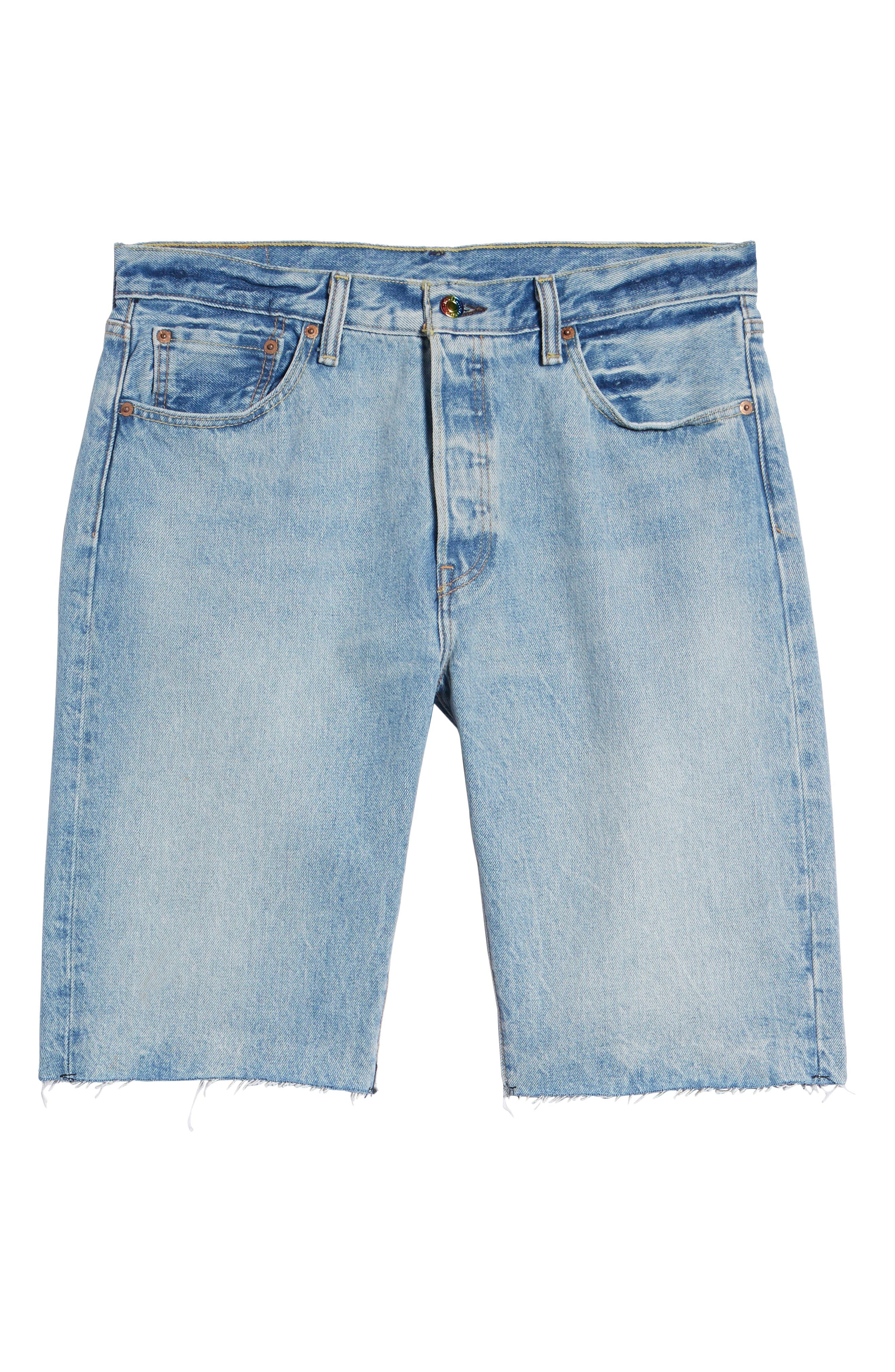 501<sup>™</sup> Cutoff Denim Shorts,                             Alternate thumbnail 6, color,                             LOVE TO ALL