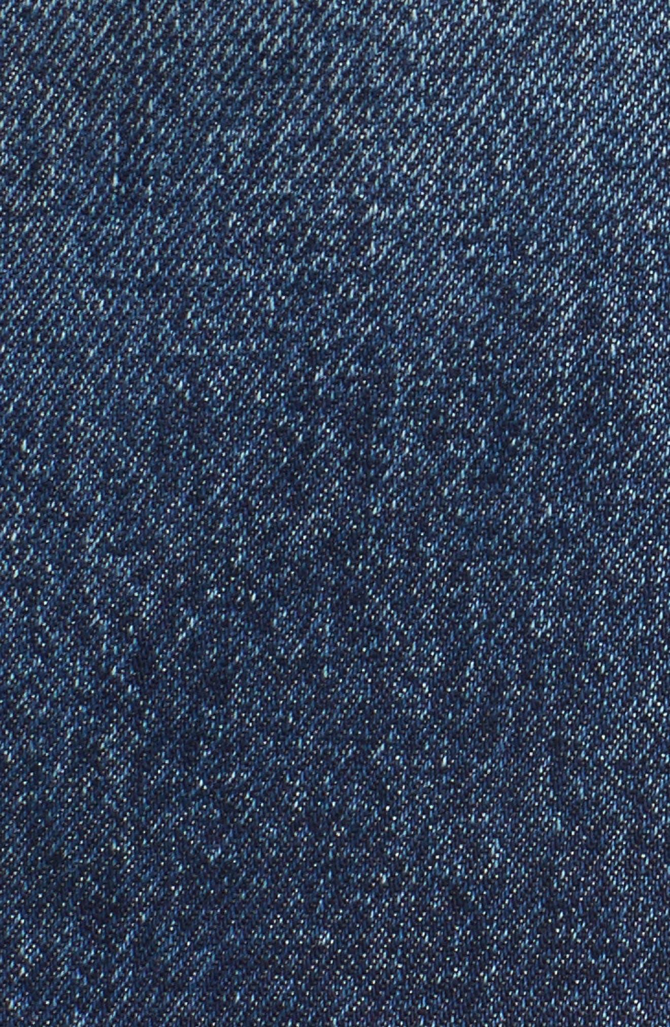 Denim Miniskirt,                             Alternate thumbnail 5, color,                             400
