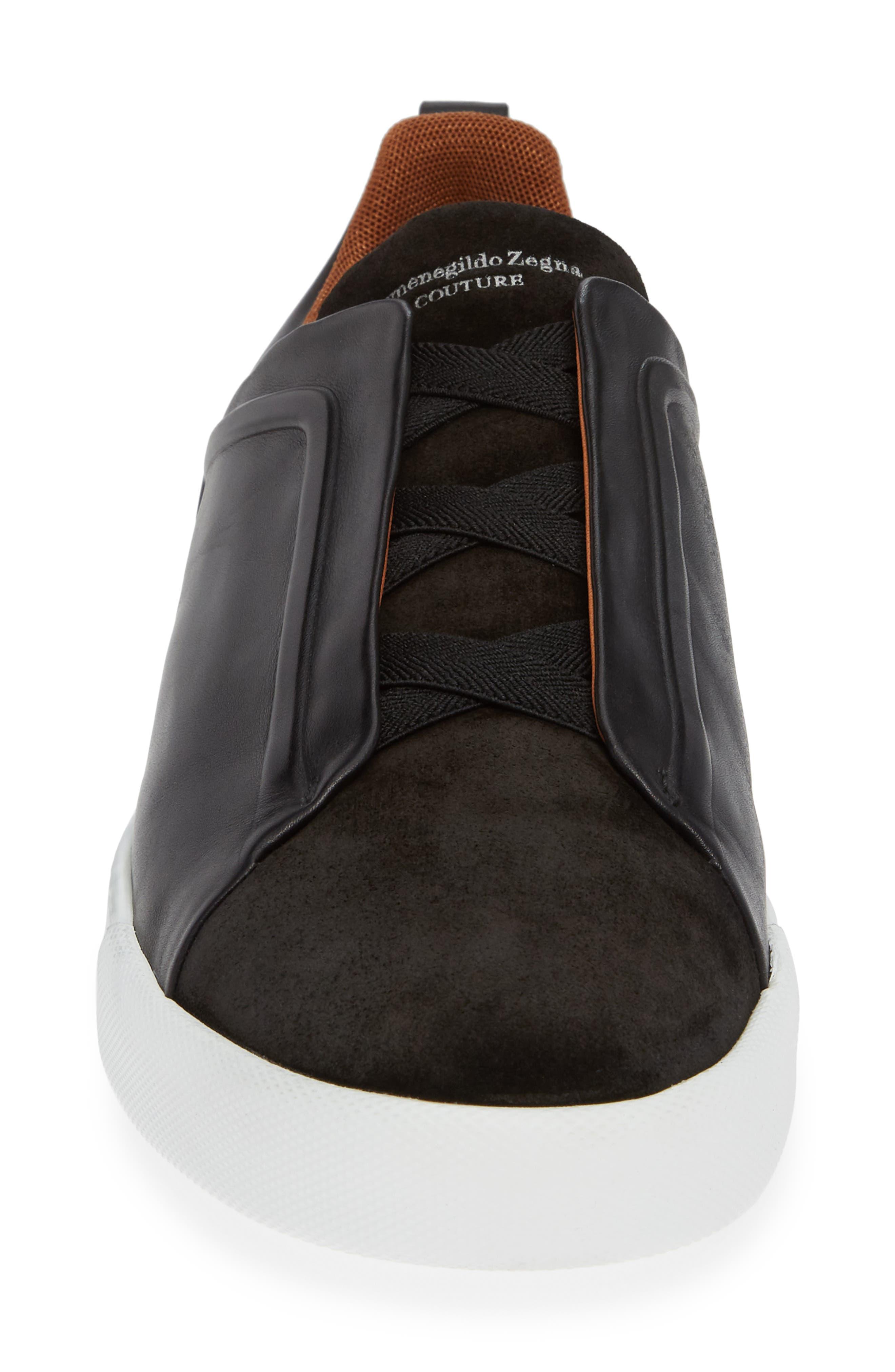 Slip-On Sneaker,                             Alternate thumbnail 4, color,                             BLACK
