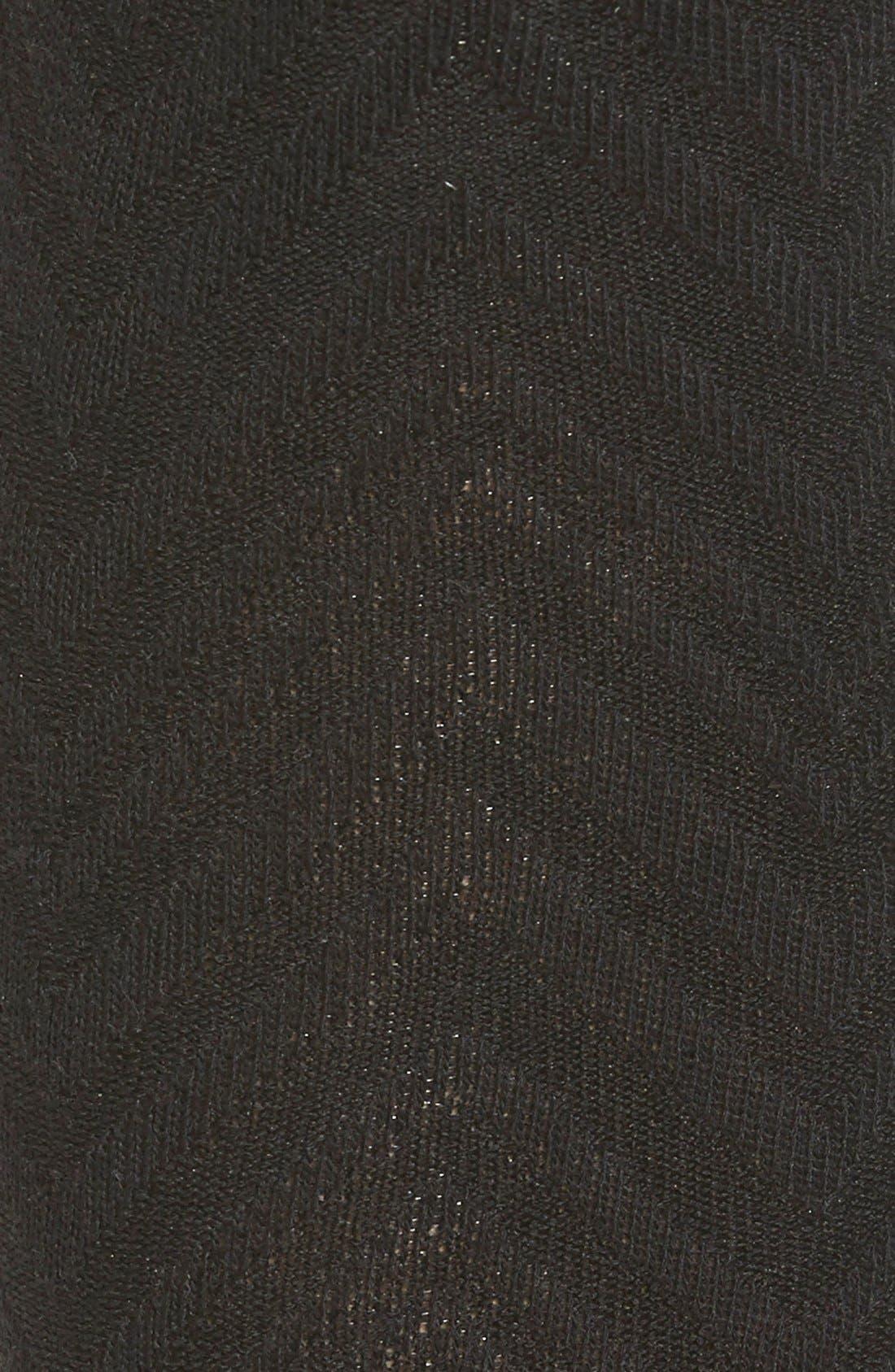 Chevron Stripe Tights with Stirrup Straps,                             Alternate thumbnail 2, color,                             001
