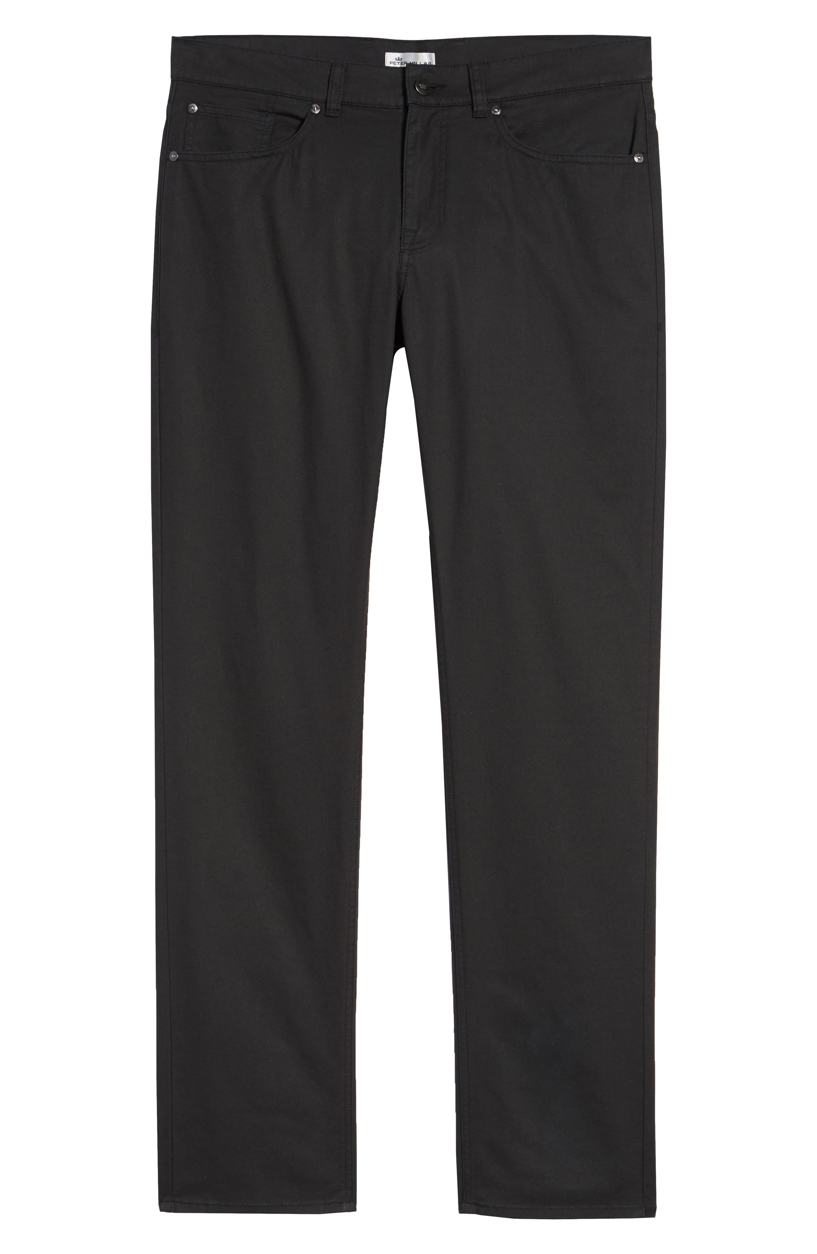 Soft Touch Twill Pants,                             Alternate thumbnail 6, color,                             BLACK